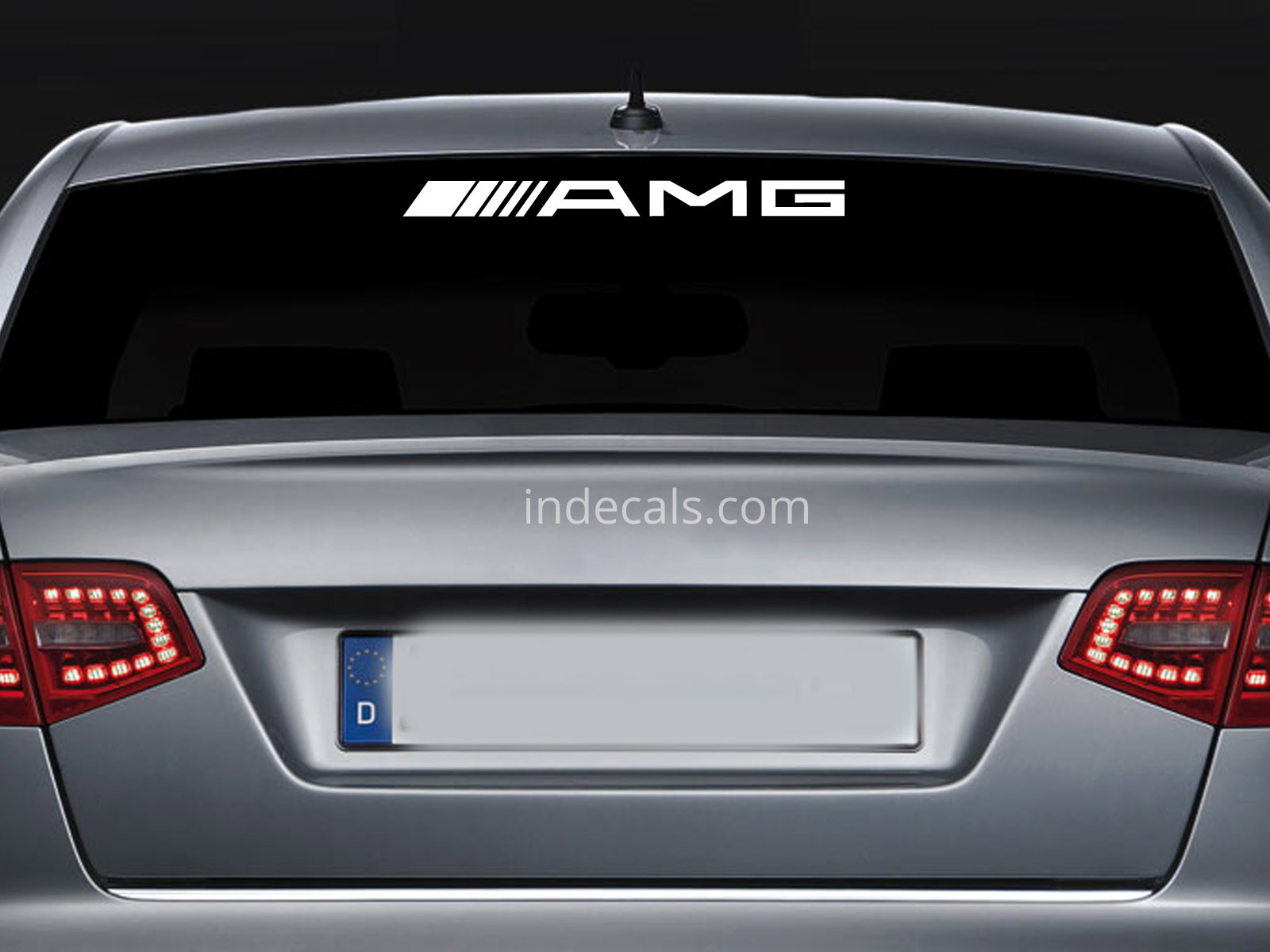 1 x AMG Sticker for Windshield or Back Window - White