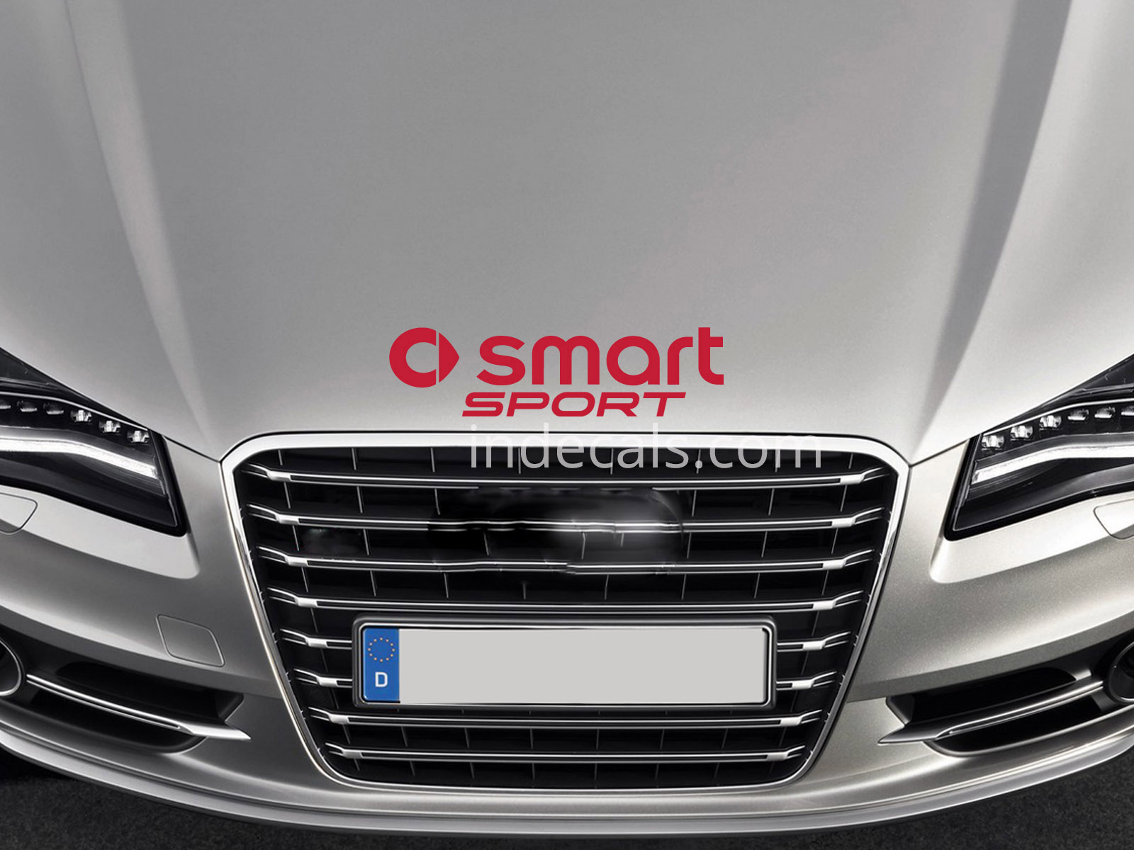 1 x Smart Performance Sticker for Bonnet - Red