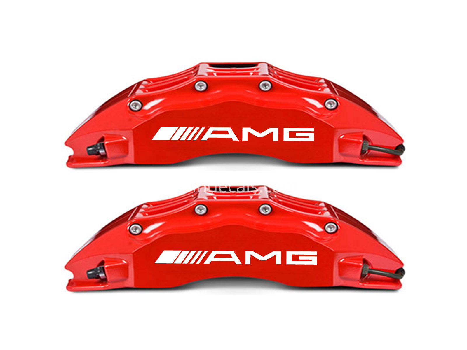 6 x AMG Stickers for Brakes - White