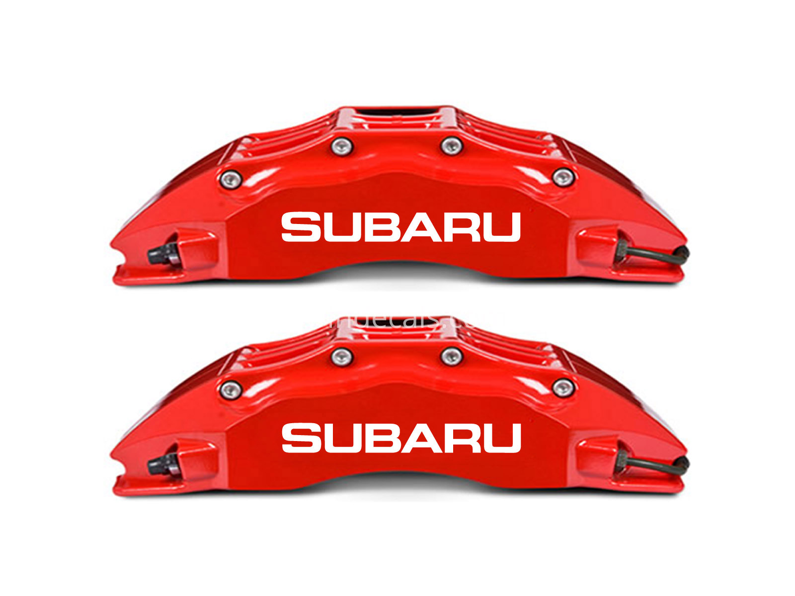 6 x Subaru Stickers for Brakes - White