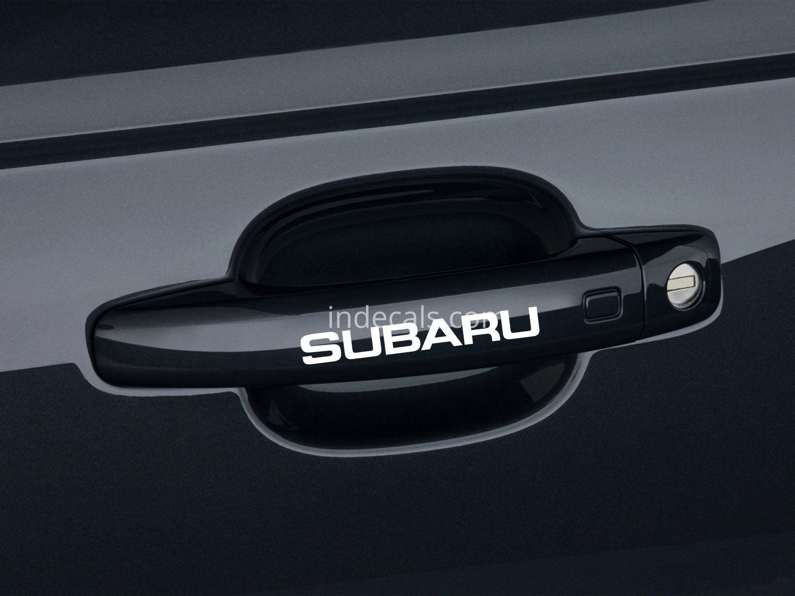 6 x Subaru Stickers for Door Handles - White