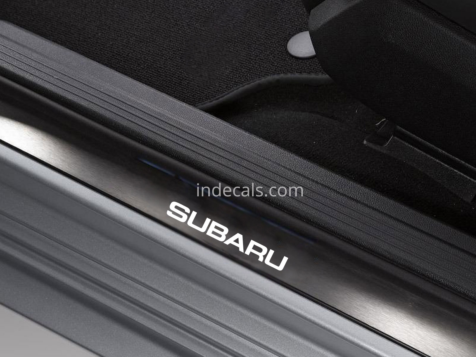 6 x Subaru Stickers for Door Sills - White