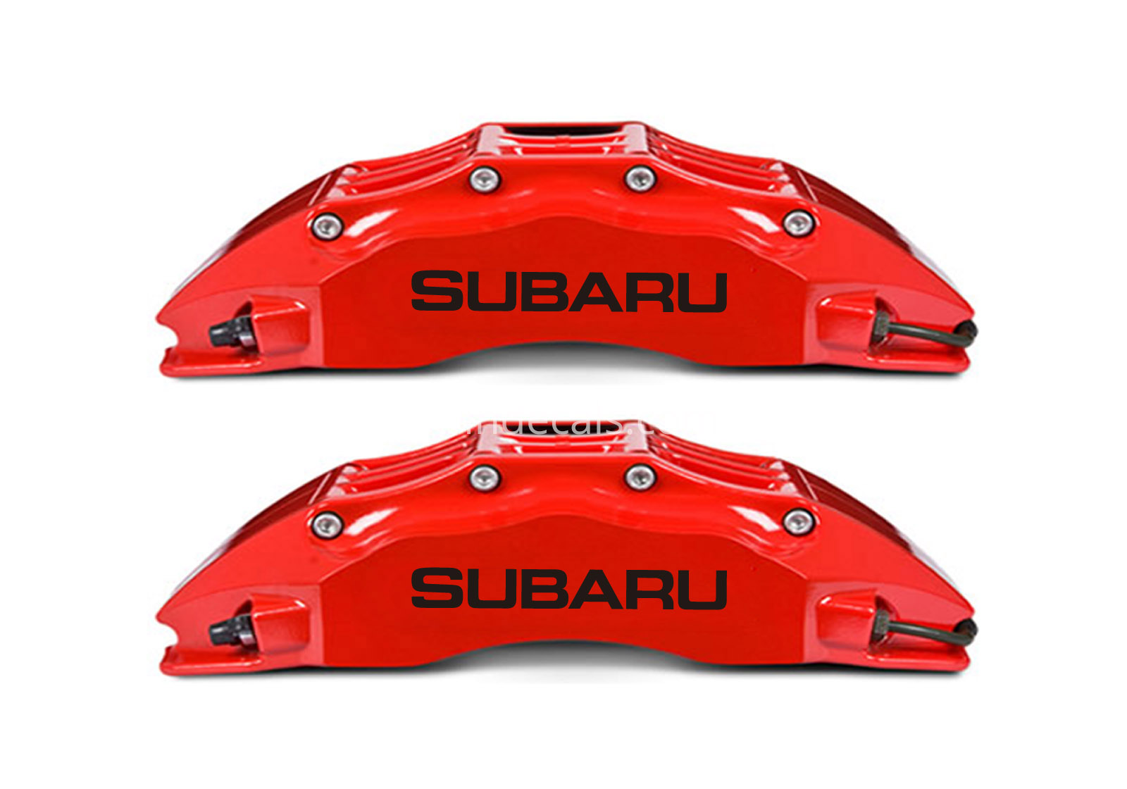 6 x Subaru Stickers for Brakes - Black