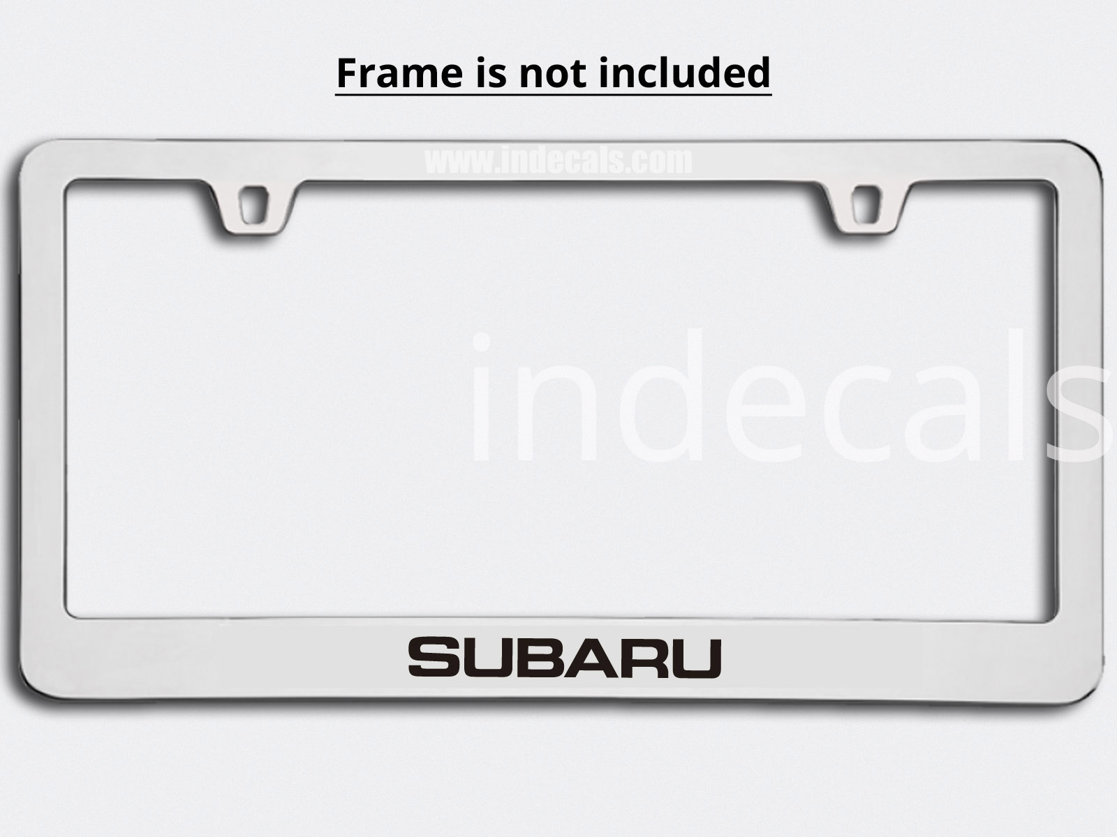 3 x Subaru Stickers for Plate Frame - Black