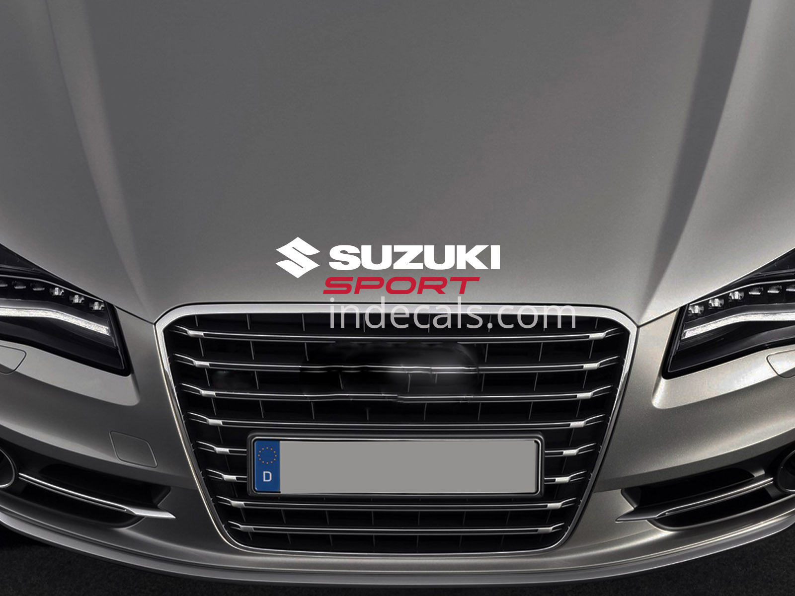 1 x Suzuki Sport Sticker for Bonnet - White & Red