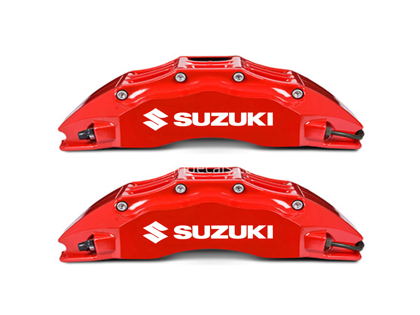 6 x Suzuki Stickers for Brakes - White
