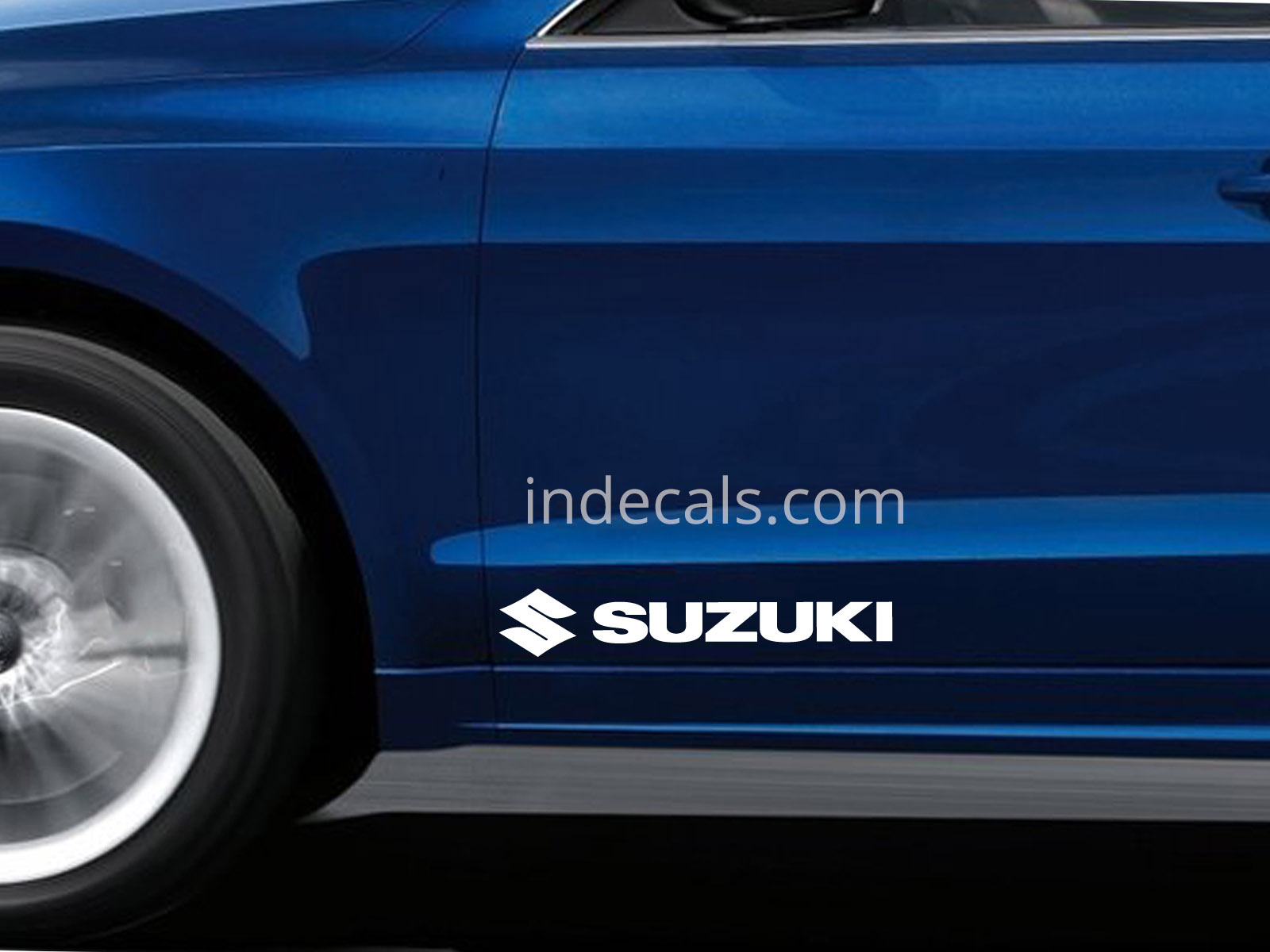 2 x Suzuki Stickers for Doors Large - White