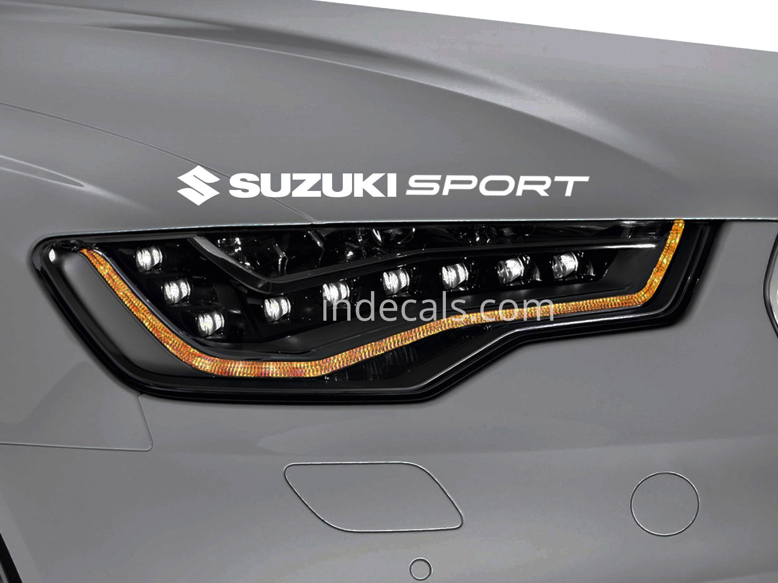 1 x Suzuki Sport Sticker for Eyebrow - White
