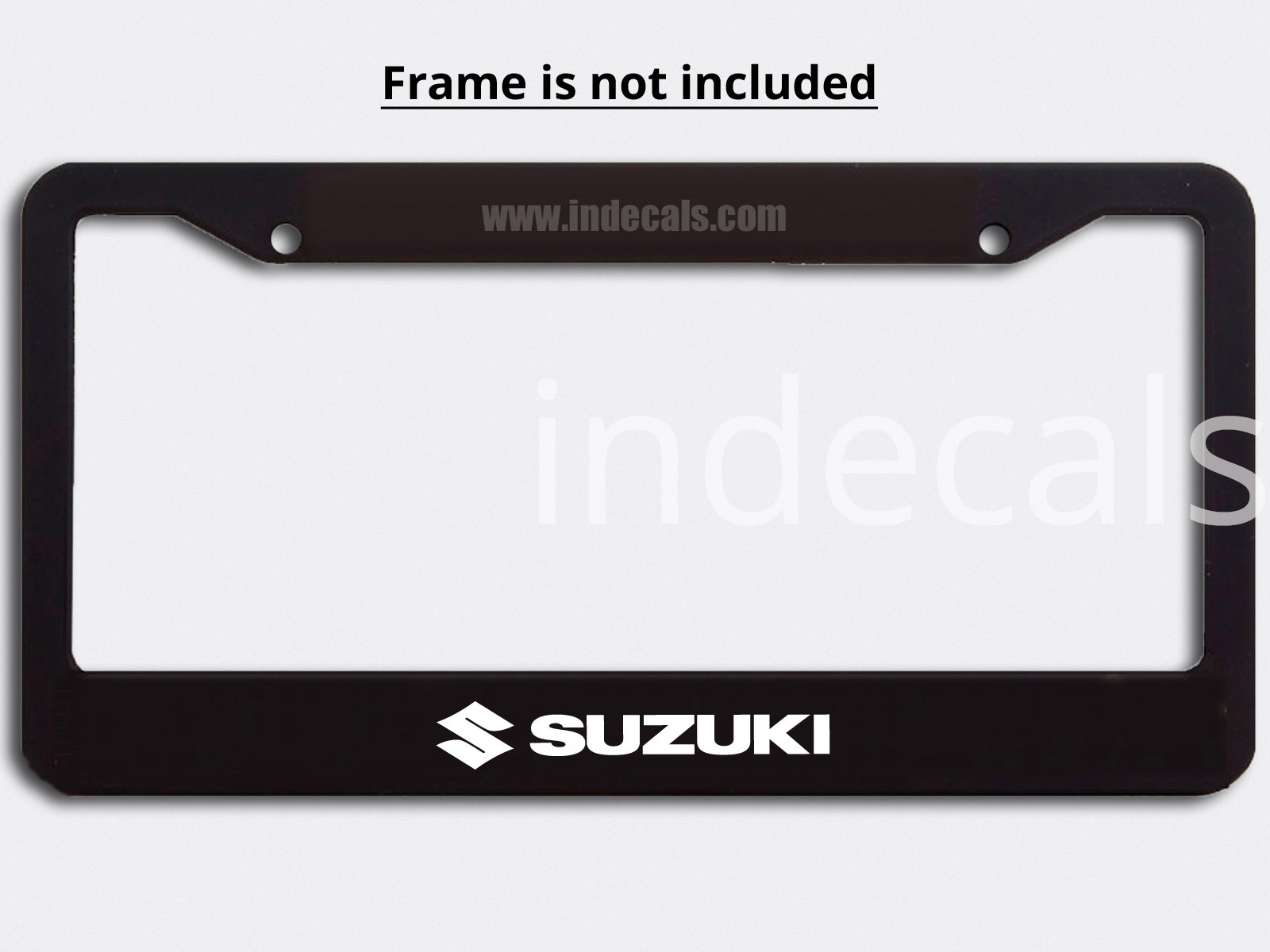 3 x Suzuki Stickers for Plate Frame - White