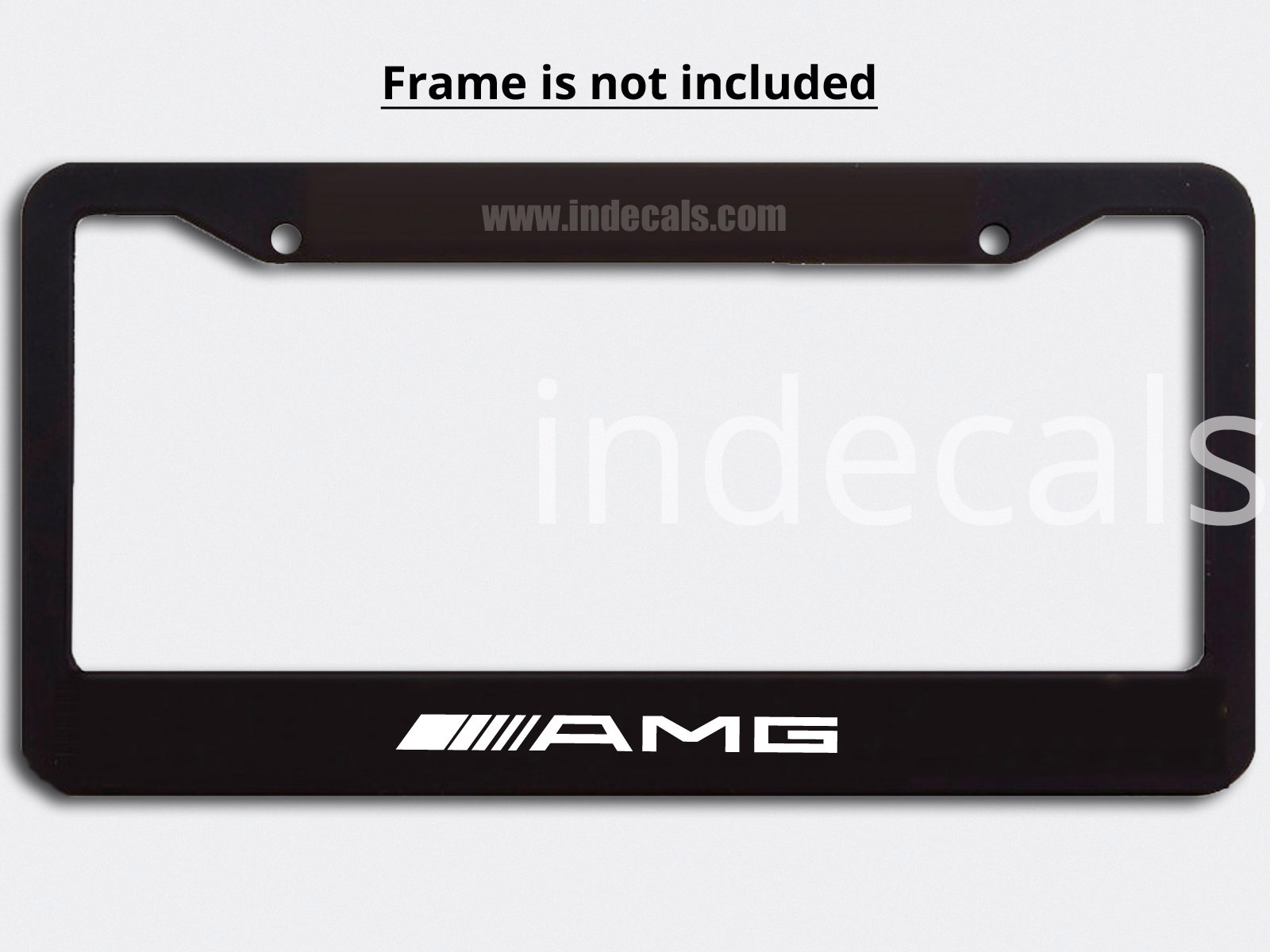 3 x AMG Stickers for Plate Frame - White
