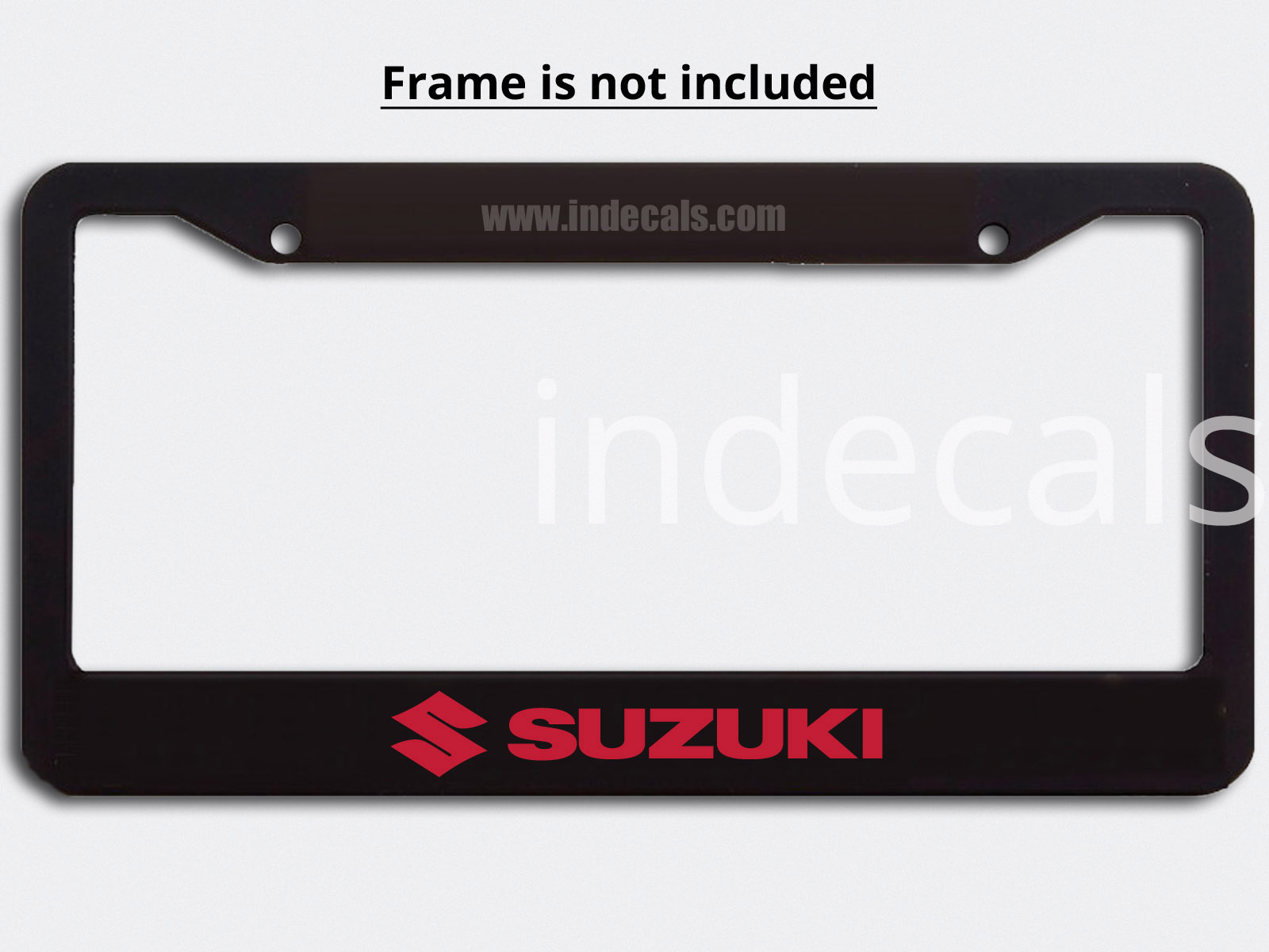 3 x Suzuki Stickers for Plate Frame - Red