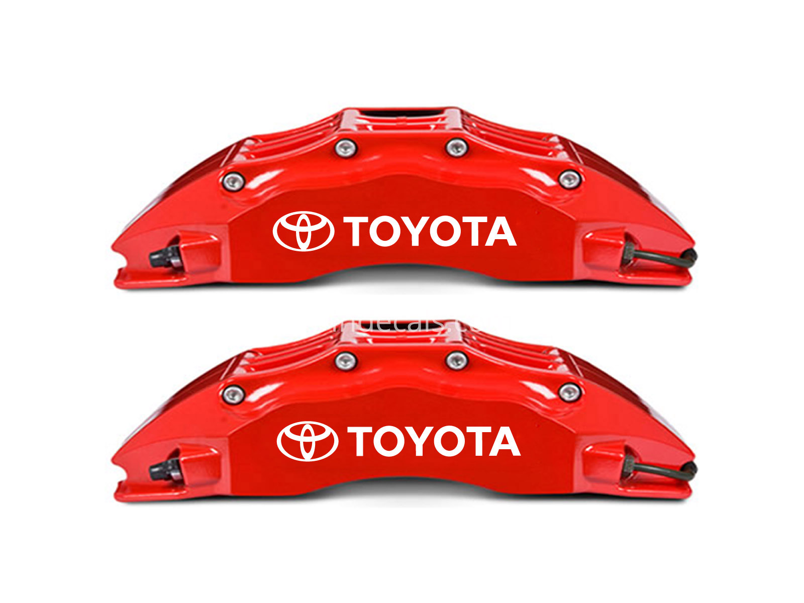 6 x Toyota Stickers for Brakes - White
