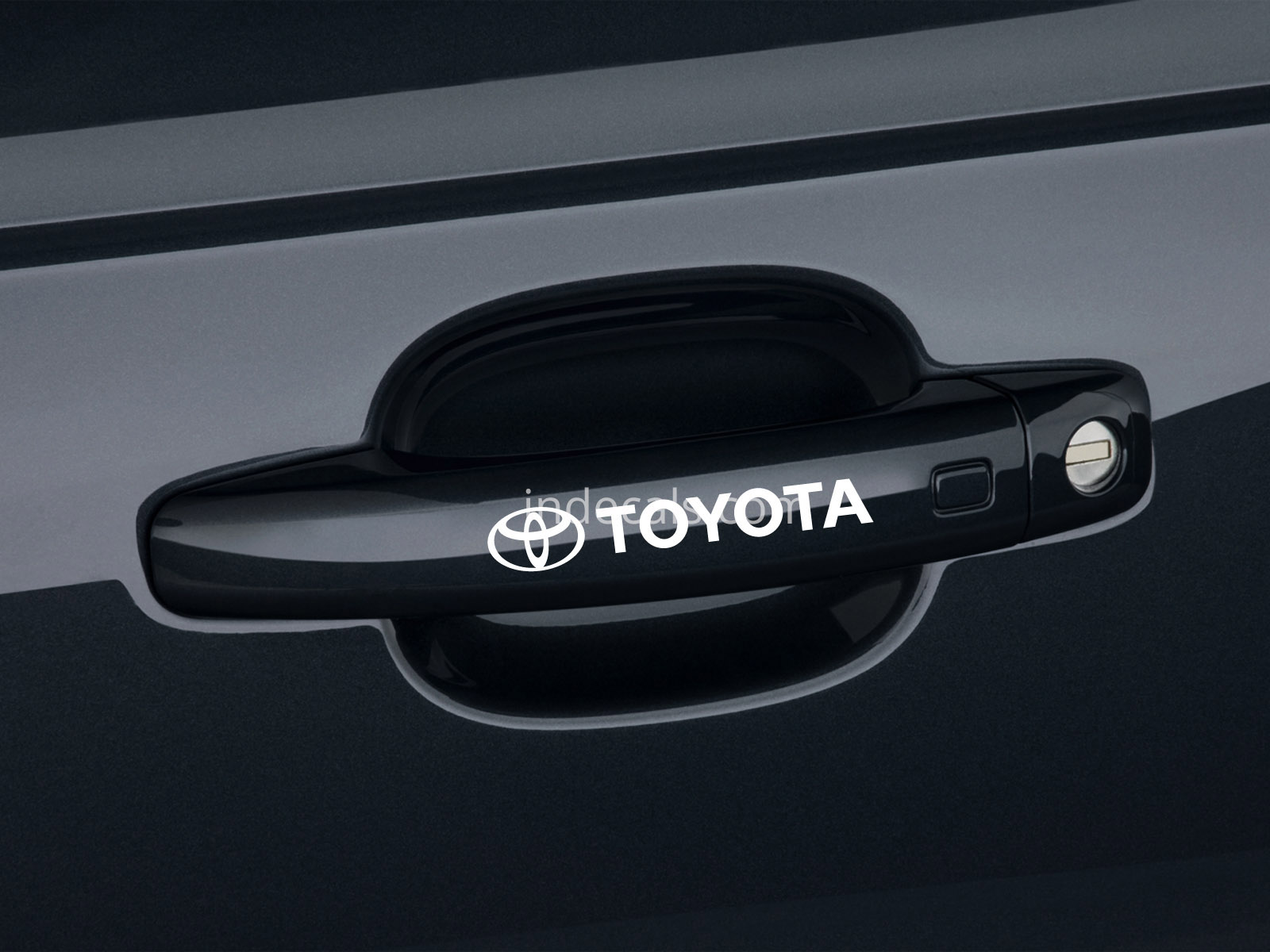 6 x Toyota Stickers for Door Handles - White