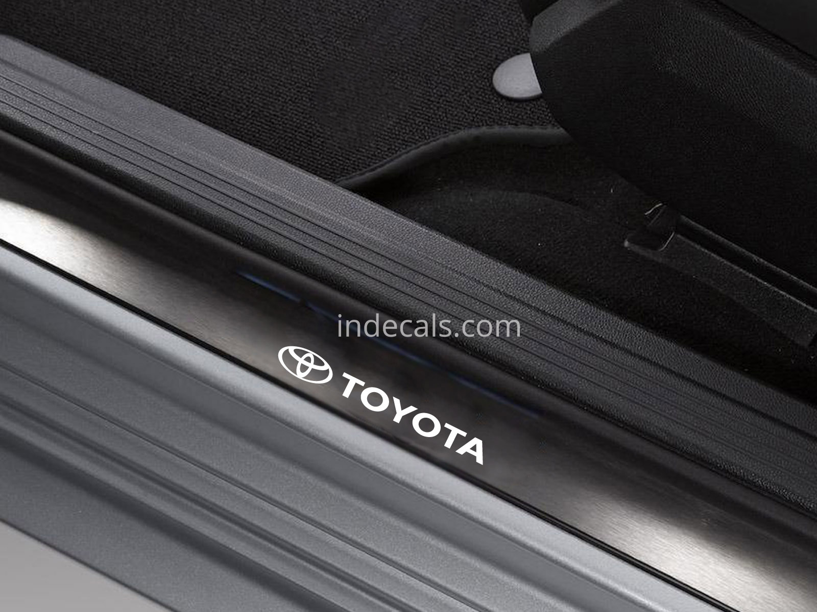 6 x Toyota Stickers for Door Sills - White