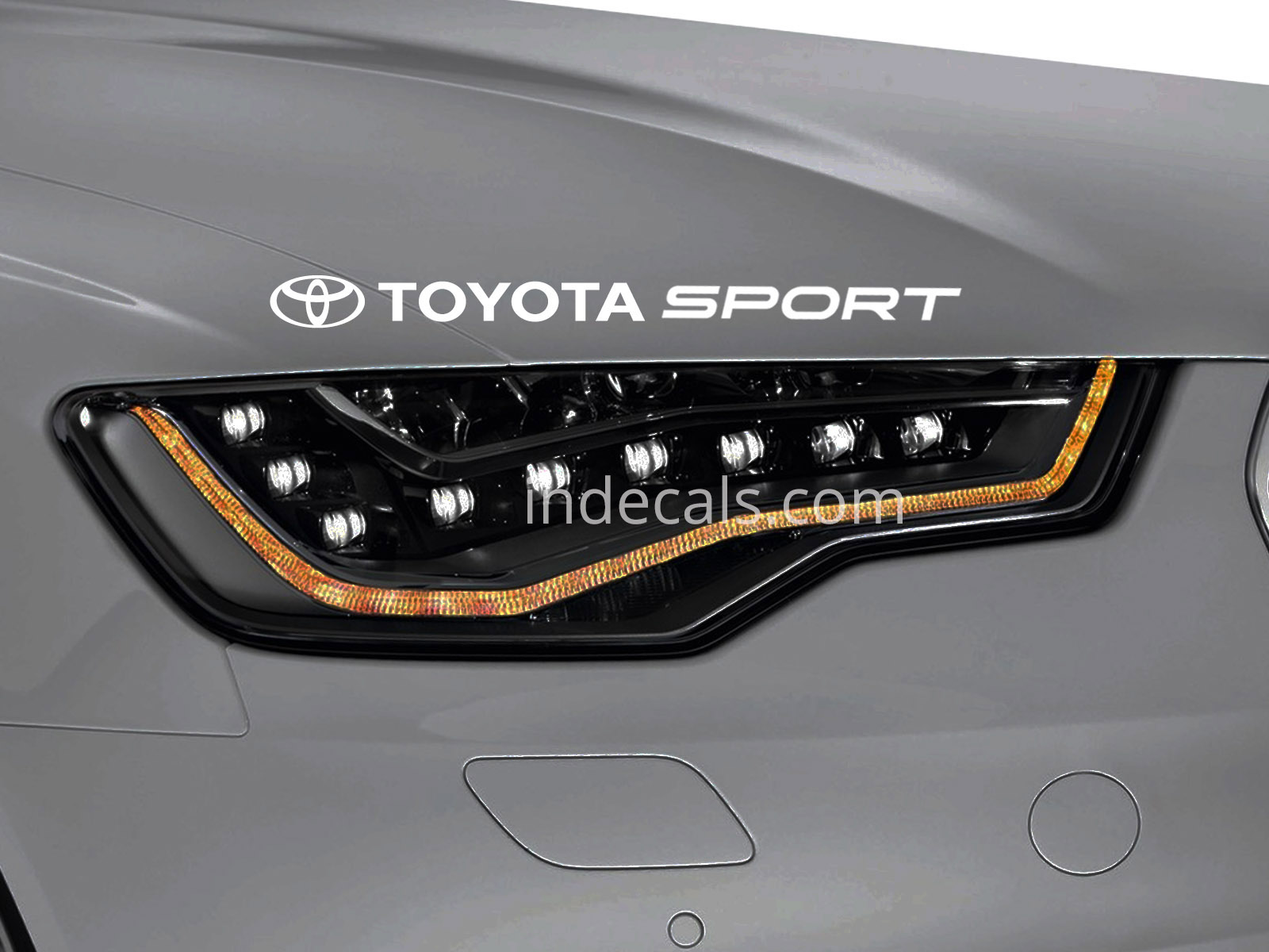 1 x Toyota Sport Sticker for Eyebrow - White
