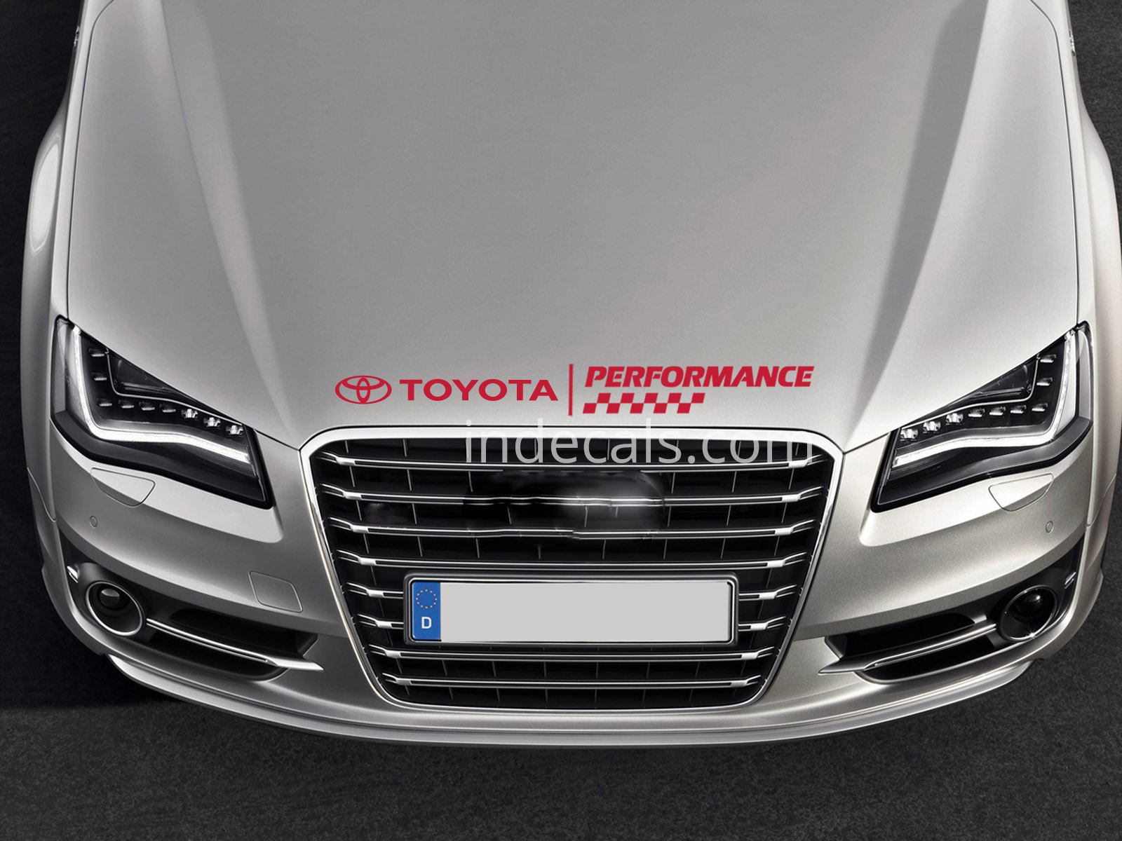 1 x Toyota Performance Sticker for Bonnet - Red