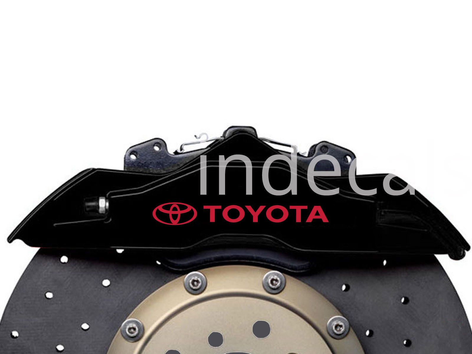 6 x Toyota Stickers for Brakes - Red