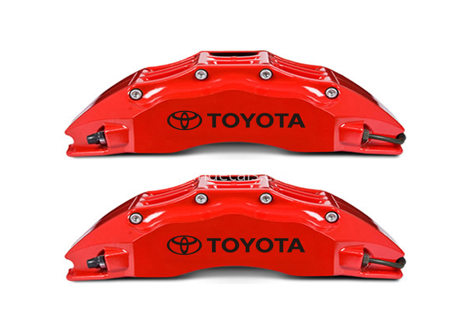 6 x Toyota Stickers for Brakes - Black