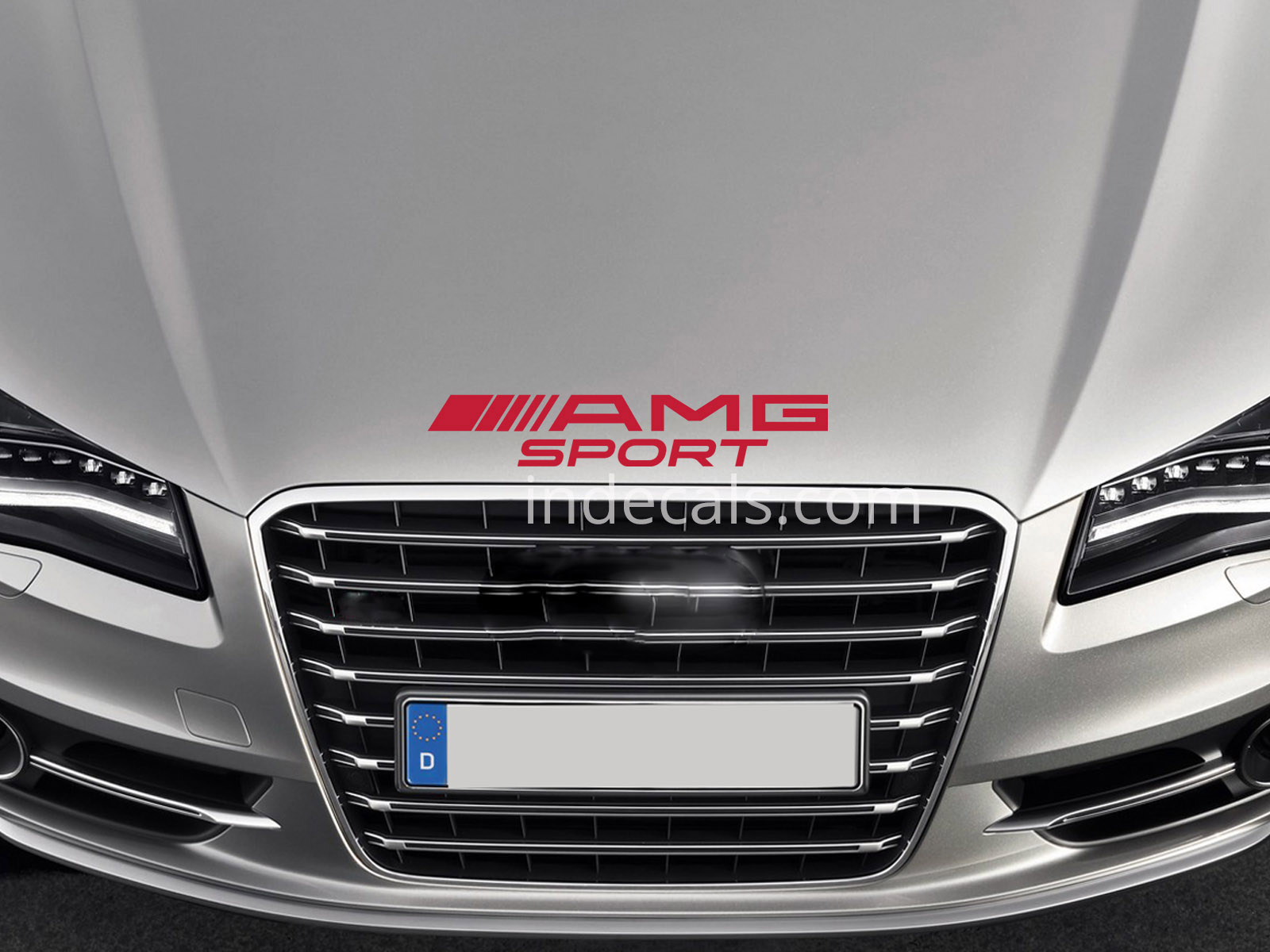 1 x AMG Sport Sticker for Bonnet - Red