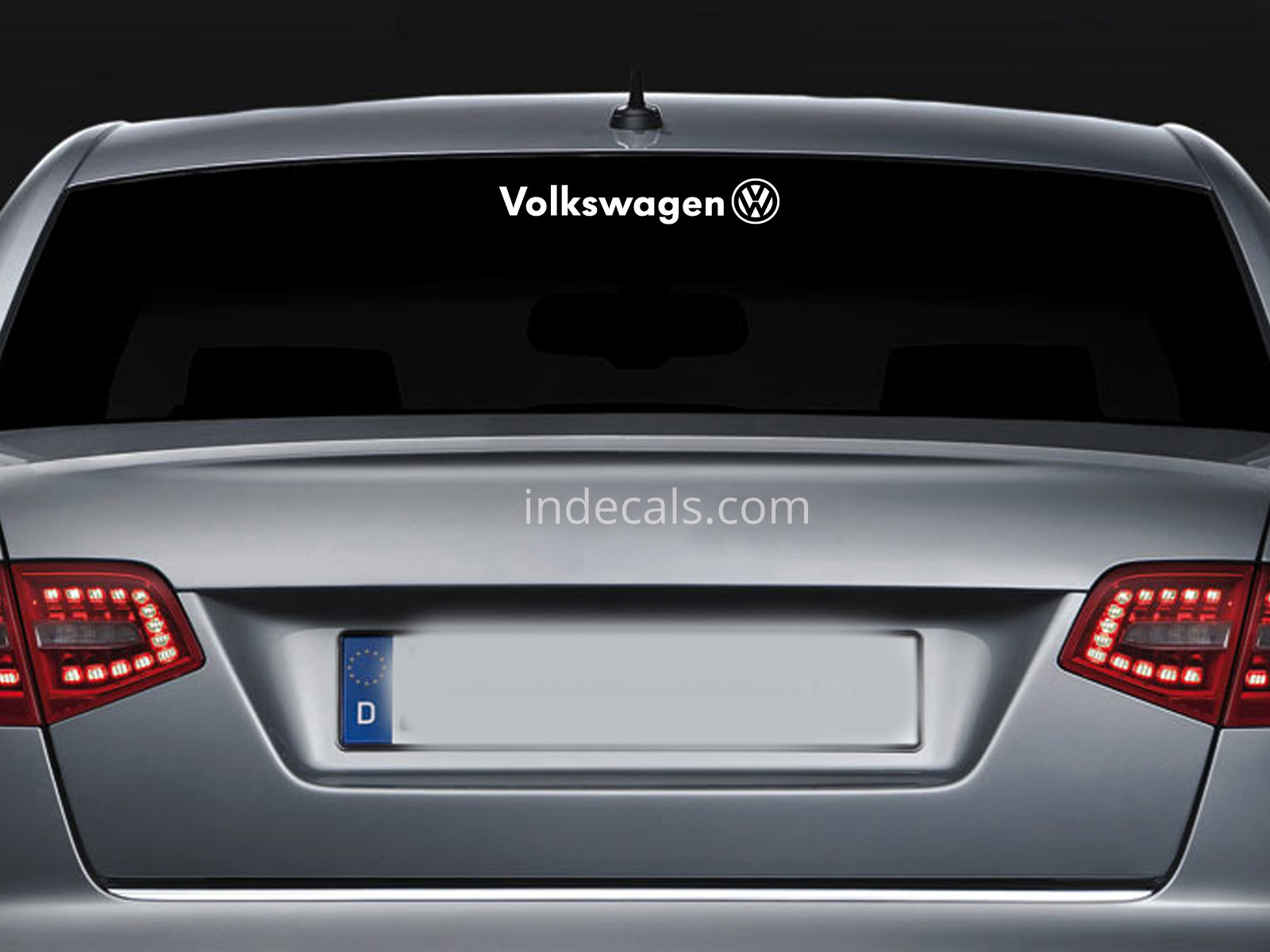 1 x Volkswagen Sticker for Windshield or Back Window - White