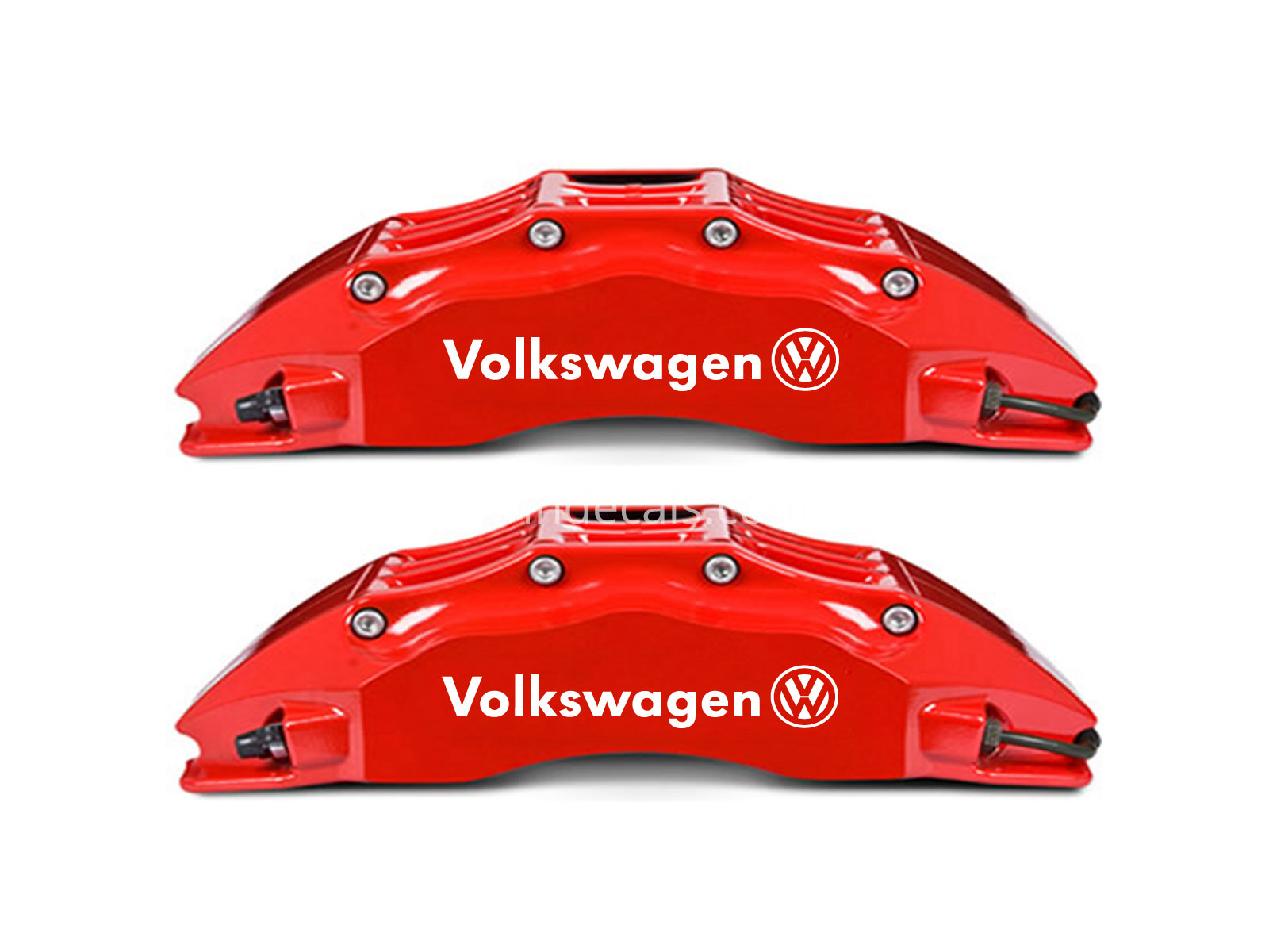 6 x Volkswagen Stickers for Brakes - White
