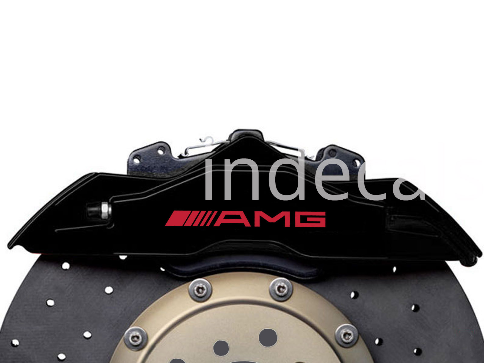 6 x AMG Stickers for Brakes - Red