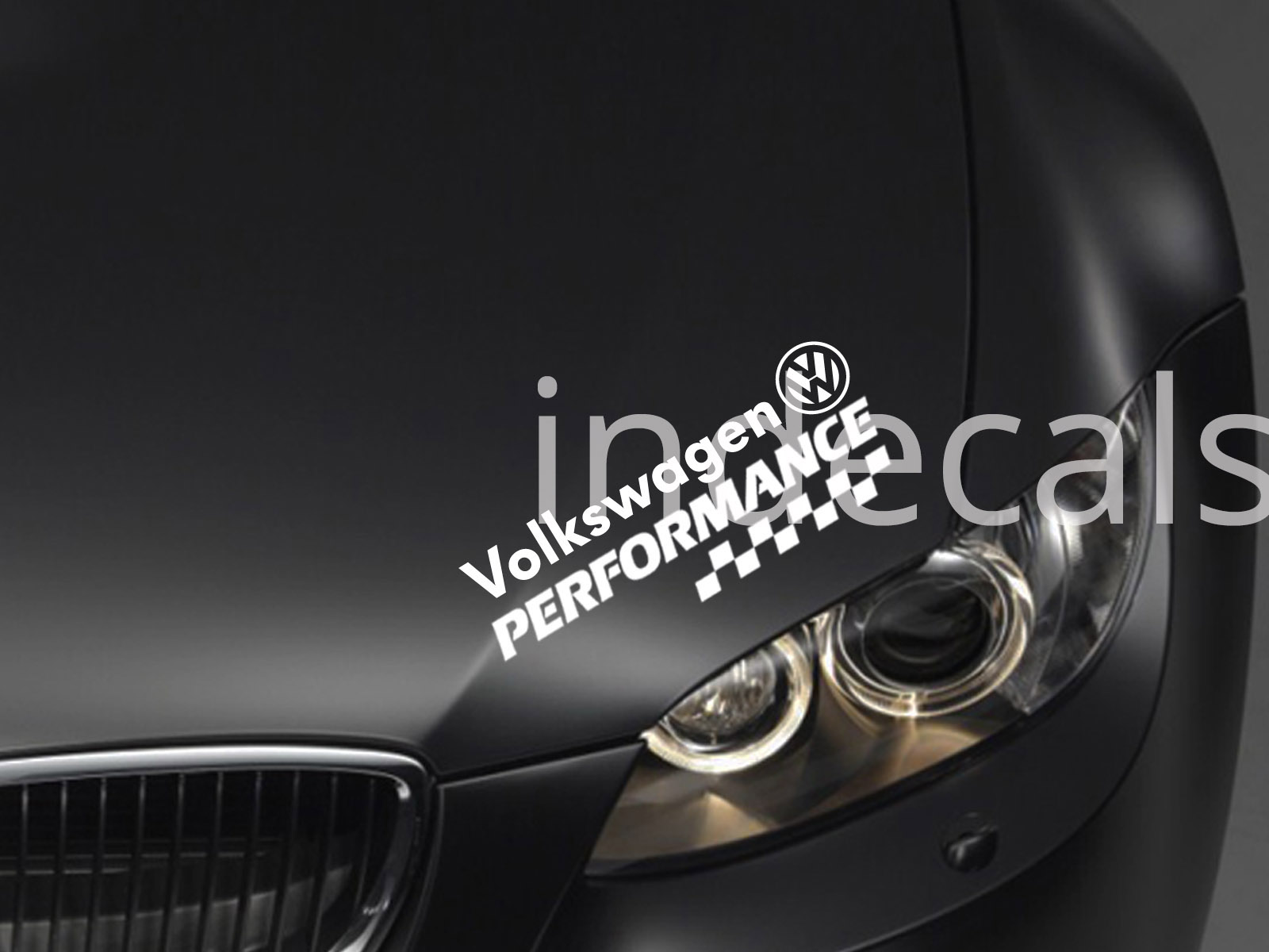 1 x Volkswagen Performance Sticker for Eyebrow - White