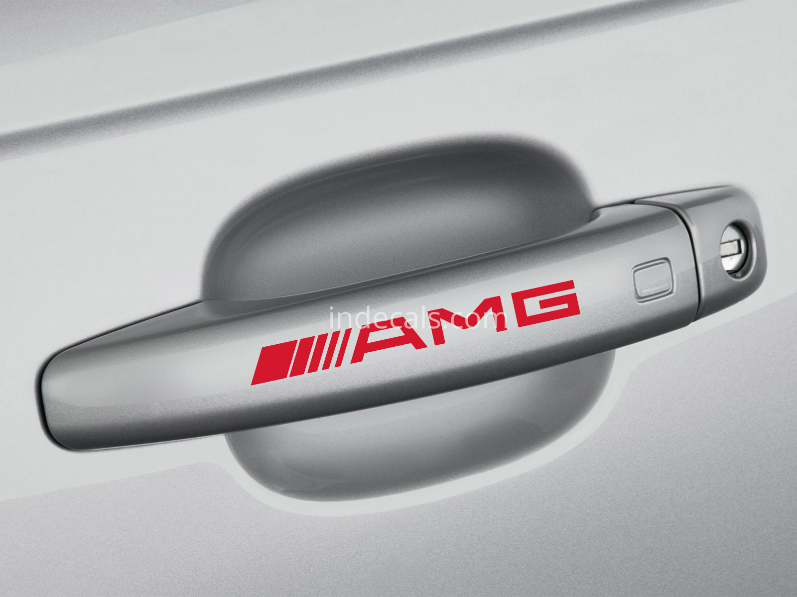 6 x AMG Stickers for Door Handles - Red