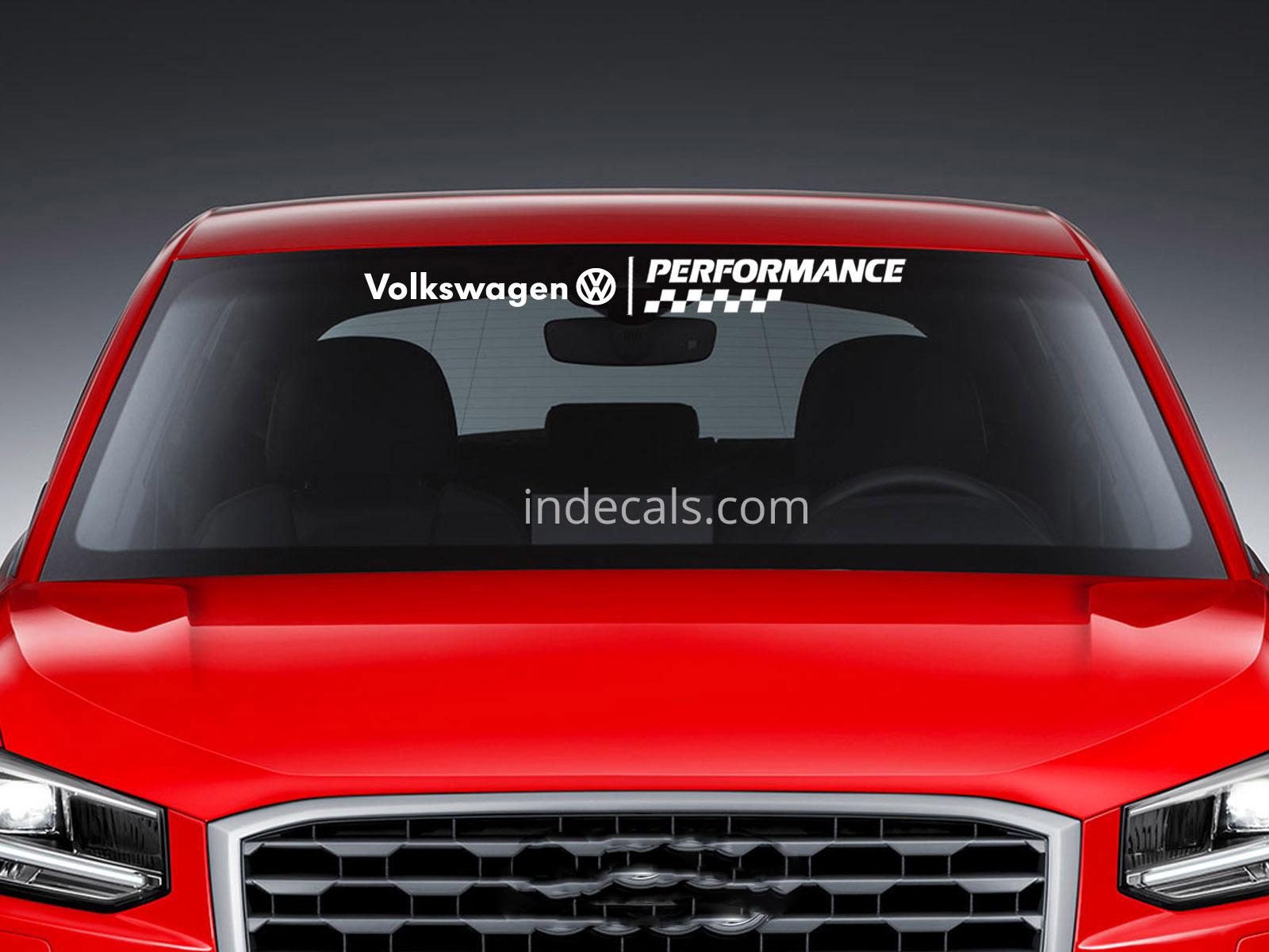 1 X Volkswagen Performance Sticker For Windshield Or Back