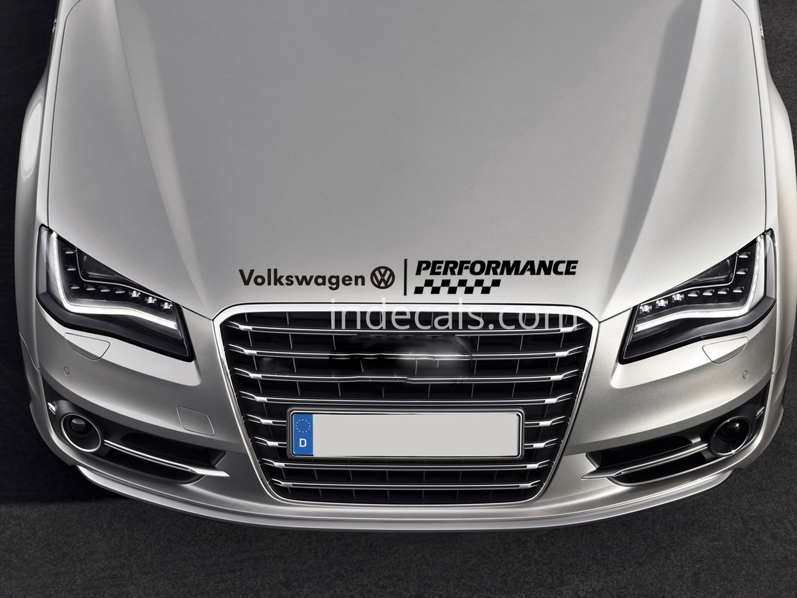 1 x Volkswagen Performance Sticker for Bonnet - Black