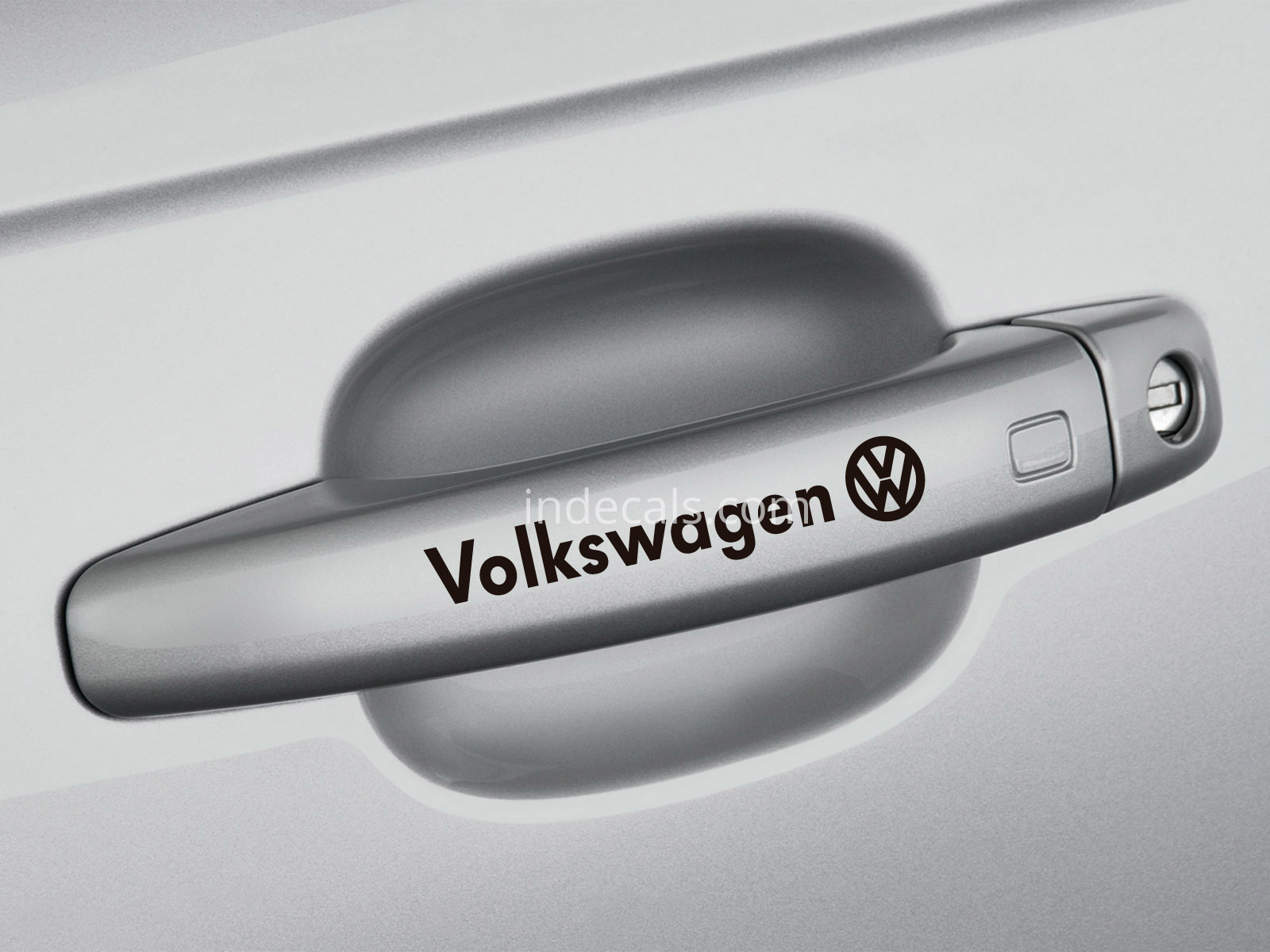 6 x Volkswagen Stickers for Door Handles - Black