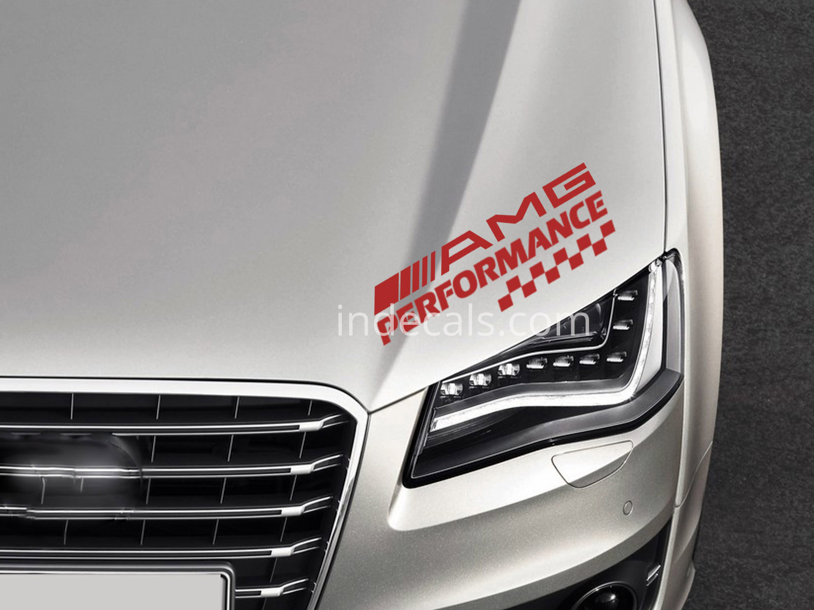 1 x AMG Performance Sticker - Red