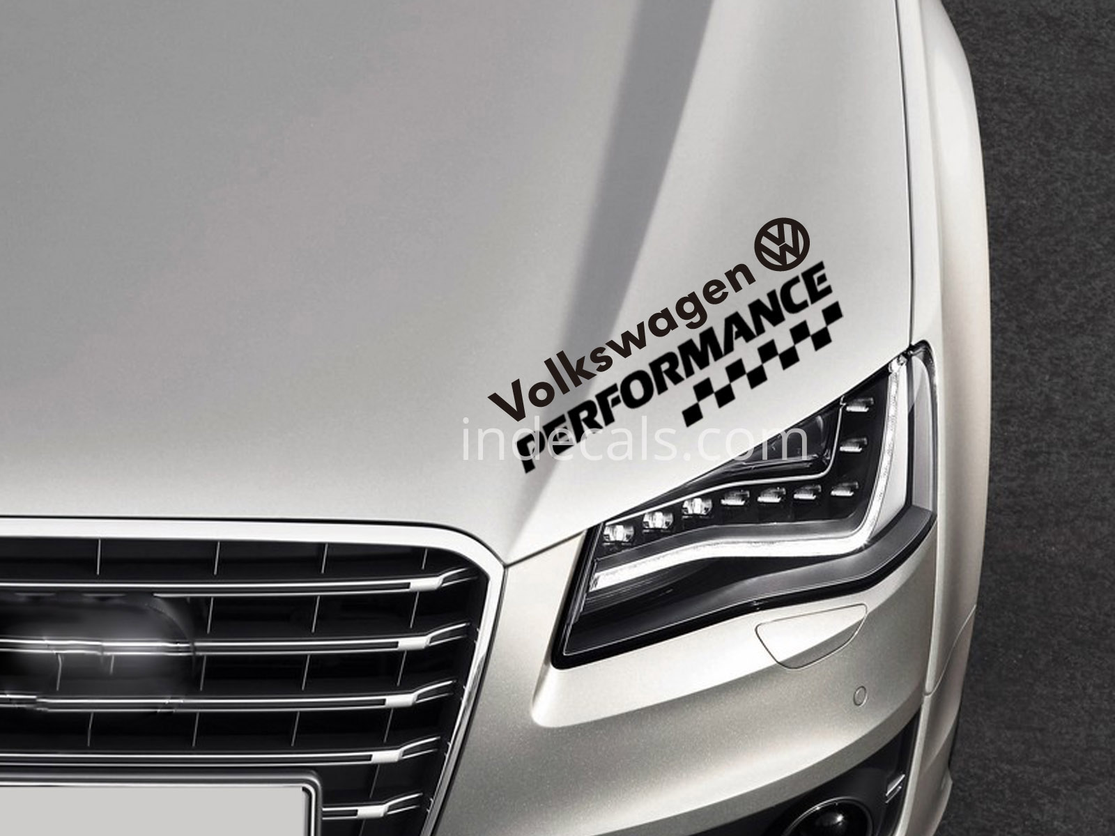 1 x Volkswagen Performance Sticker - Black