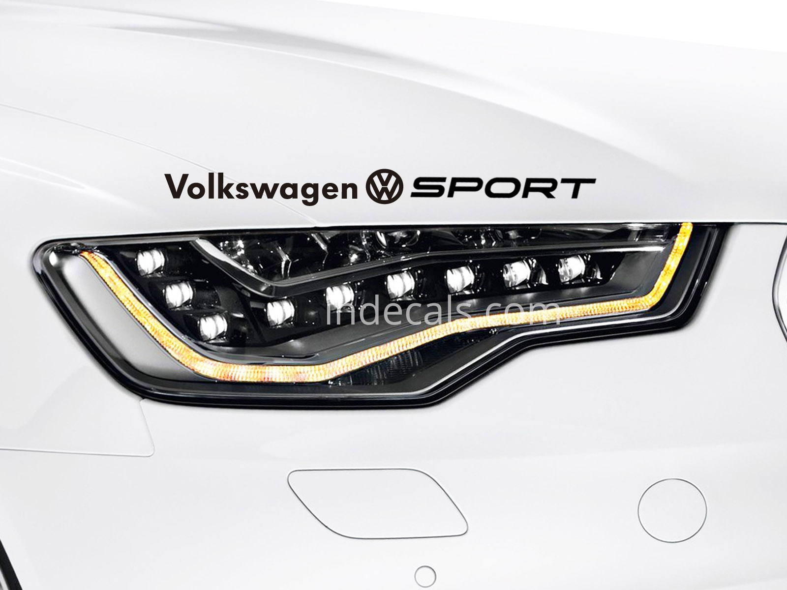 1 x Volkswagen Sport Sticker - Black
