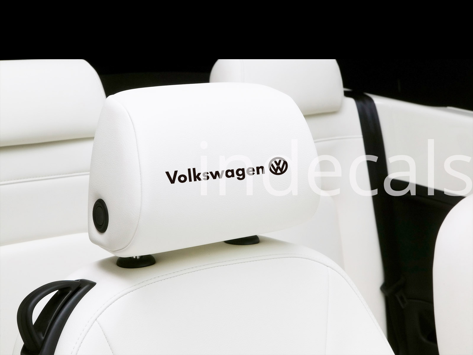6 x Volkswagen Stickers for Headrests - Black