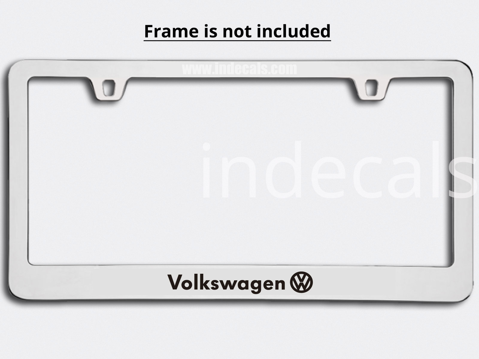 3 x Volkswagen Stickers for Plate Frame - Black