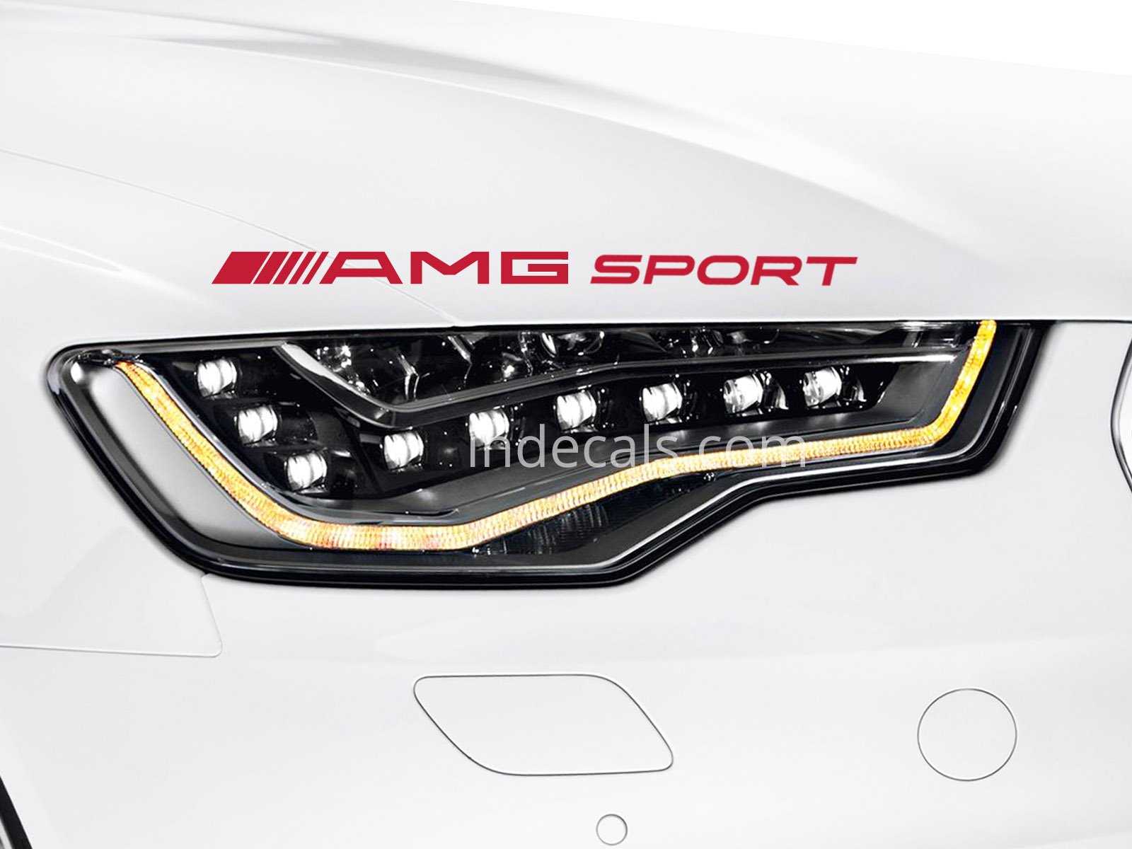 1 x AMG Sport Sticker - Red