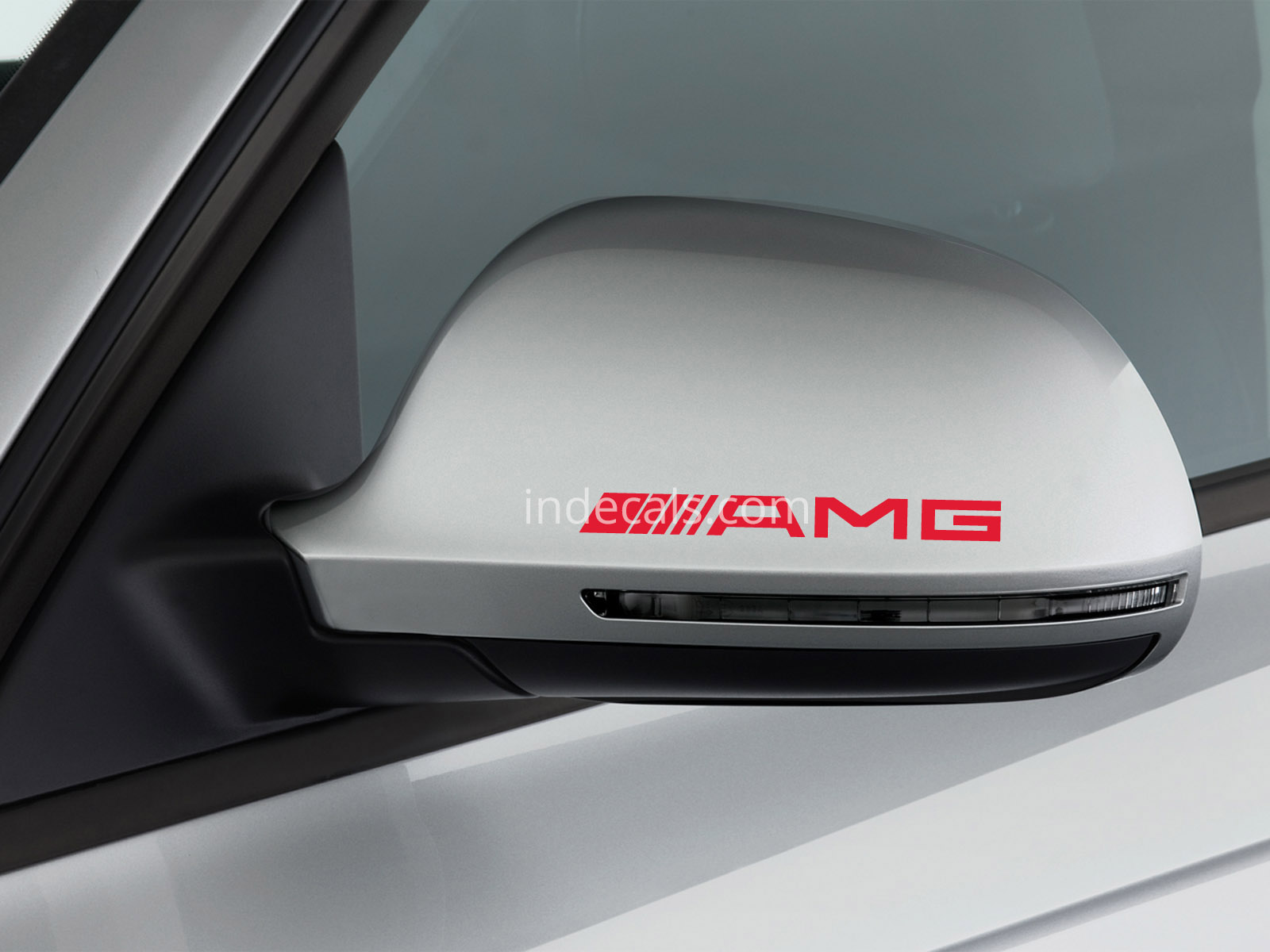 3 x AMG Stickers for Mirrors - White