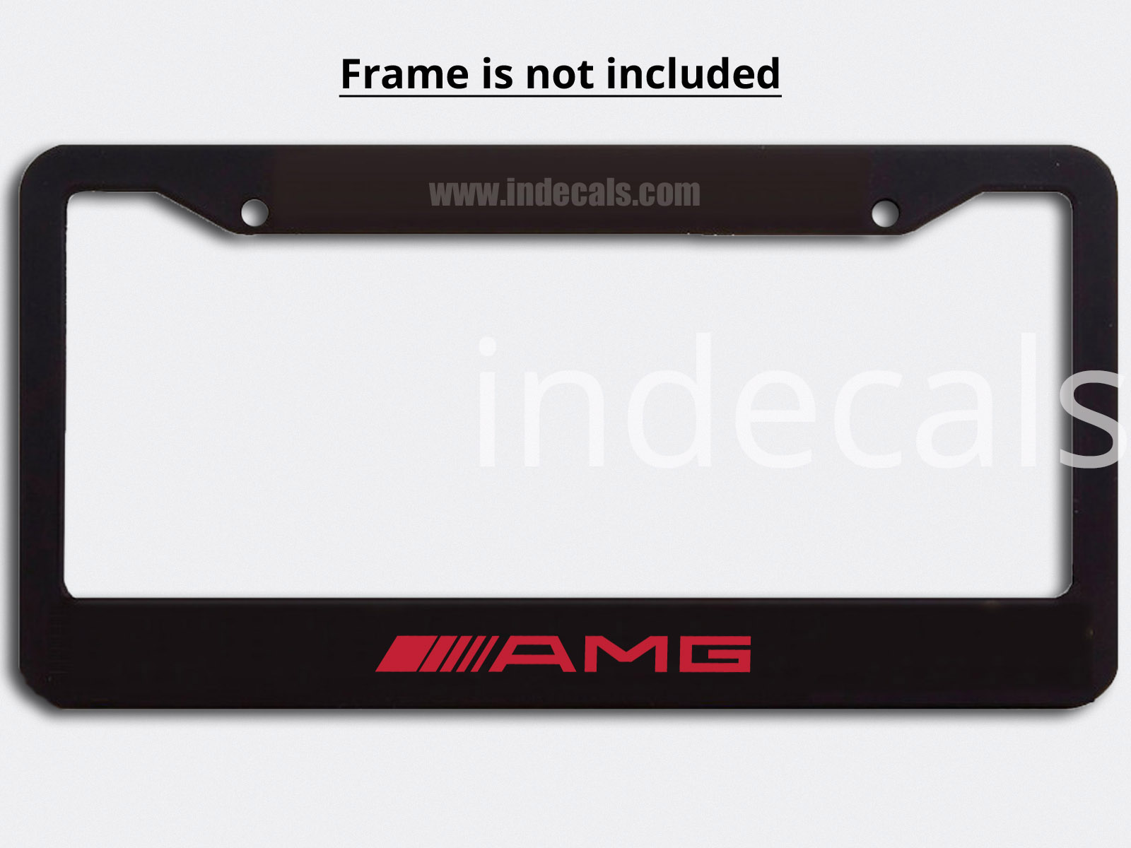 3 x AMG Stickers for Plate Frame - Red