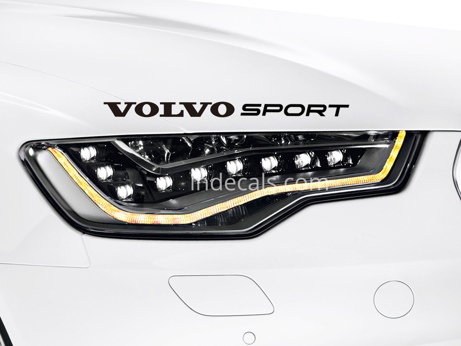 1 x Volvo Sport Sticker - Black