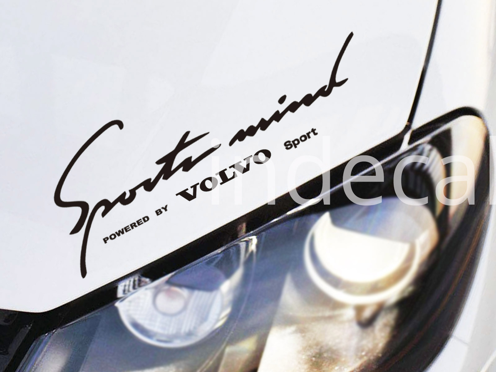 1 x Volvo Sports Mind Sticker - Black