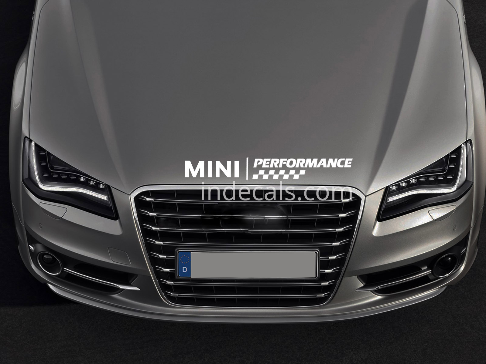 1 x Mini Peformance Sticker for Bonnet - White