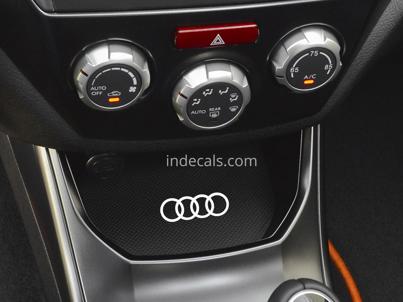 3 x Audi Rings Stickers for Ashtray - White