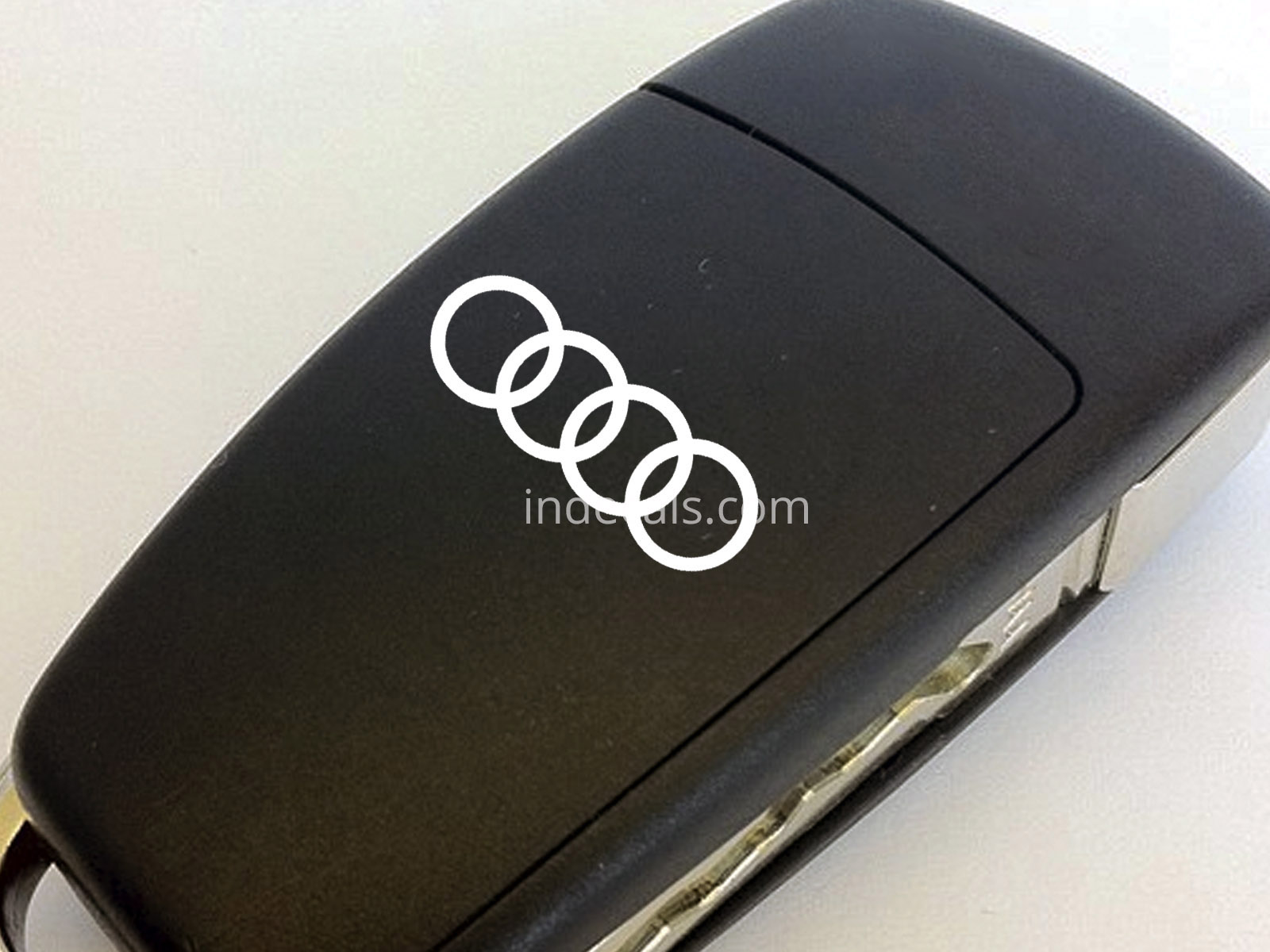 3 x Audi Rings Stickers for Key - White