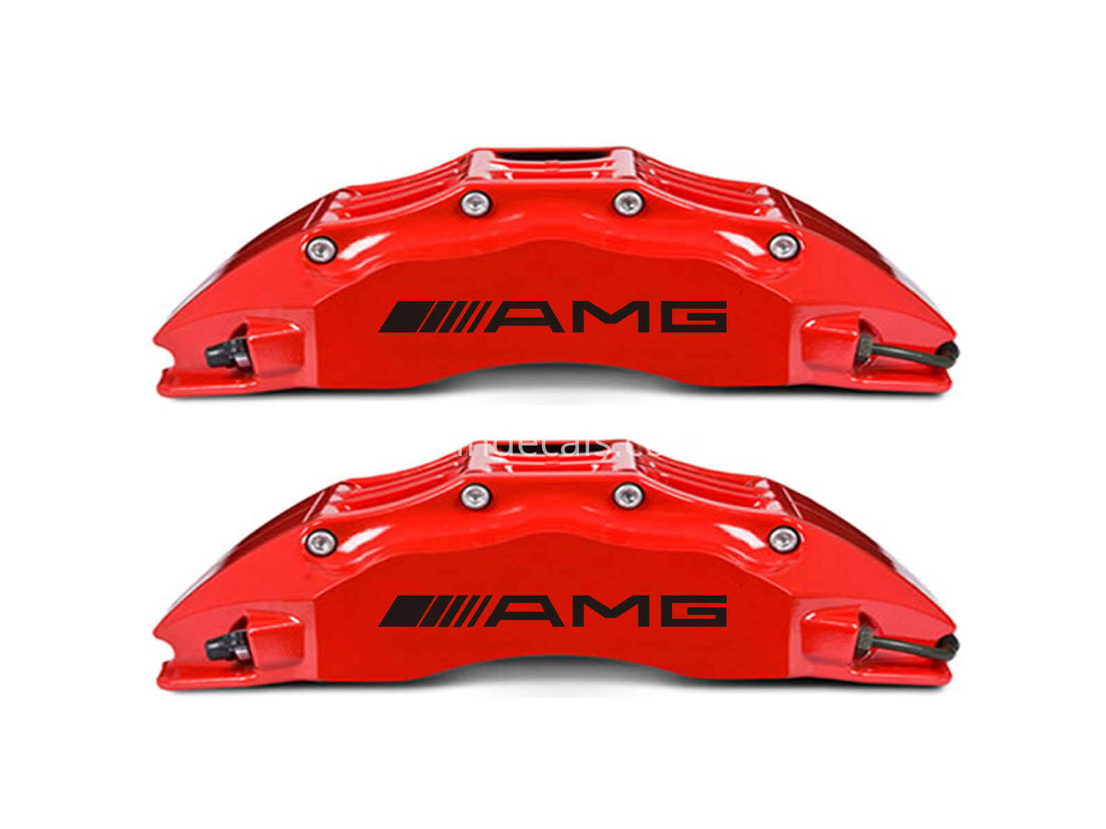 6 x AMG Stickers for Brakes - Black