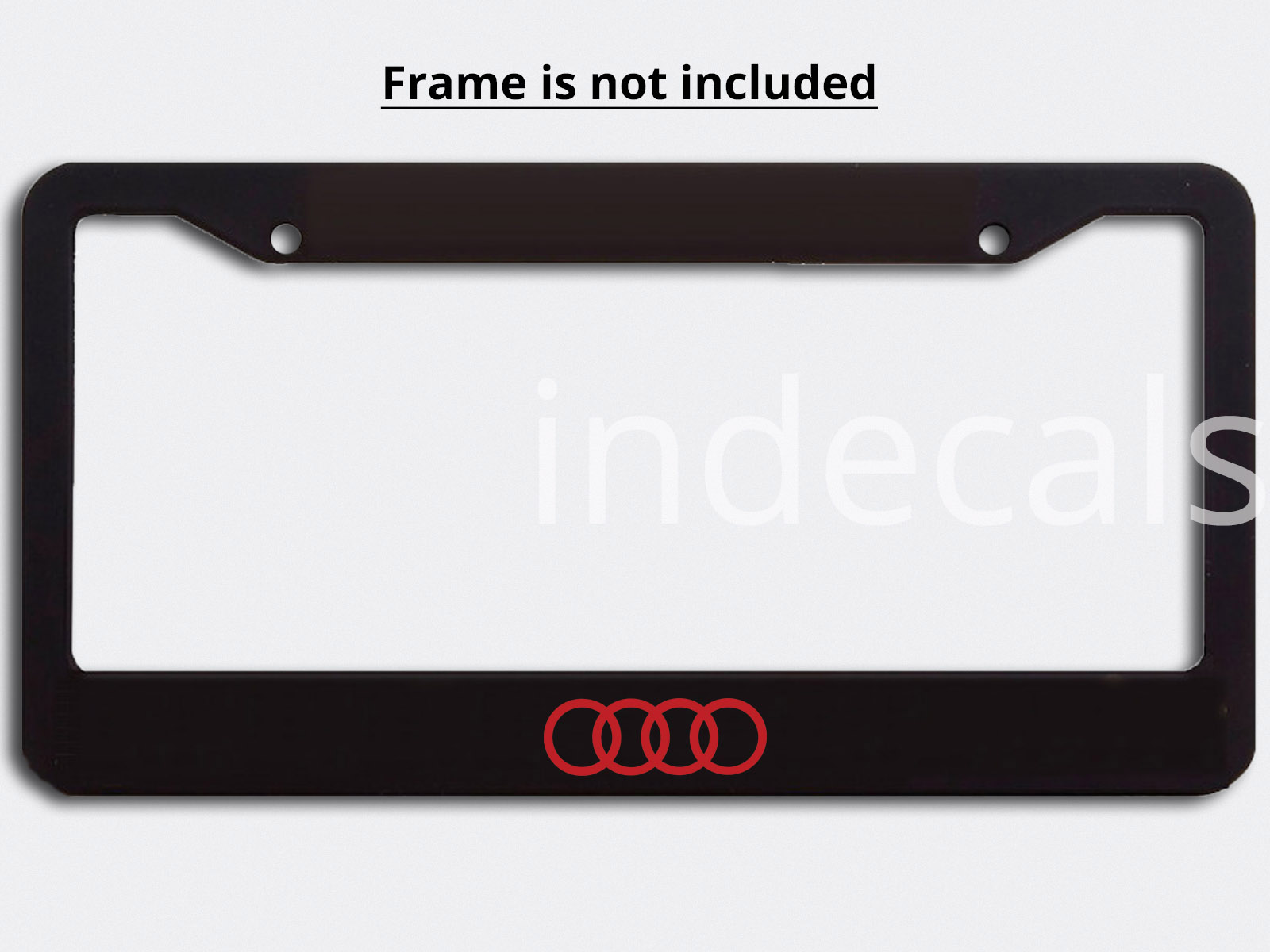 3 x Audi Rings Stickers for License Plate Frame - Red - indecals.com