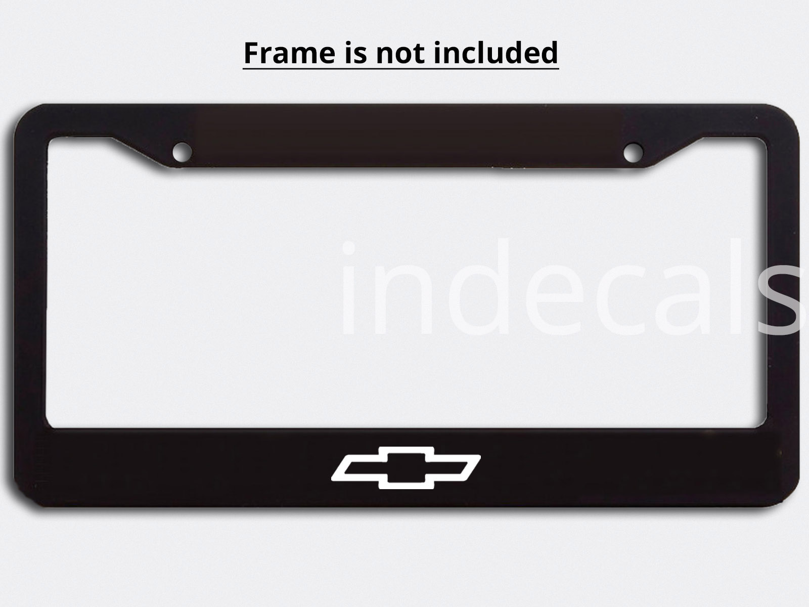 3 x Chevrolet Stickers for License Plate Frame - White - indecals.com