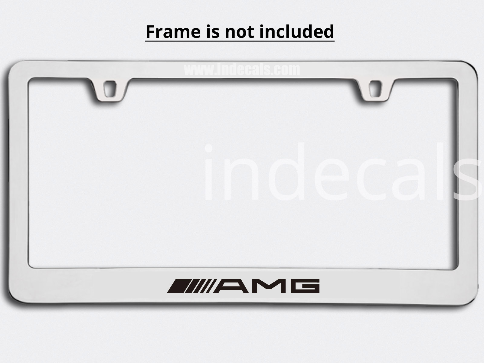 3 x AMG Stickers for Plate Frame - Black