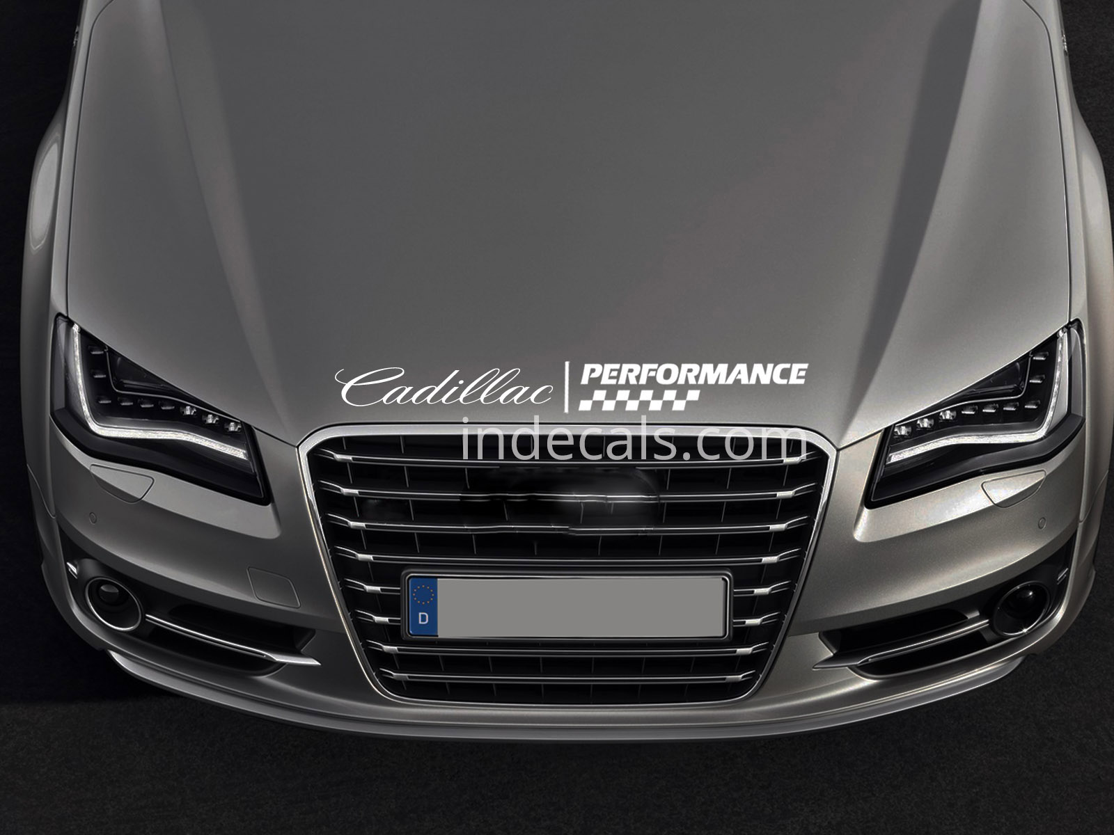 1 x Cadillac Peformance Sticker for Bonnet - White