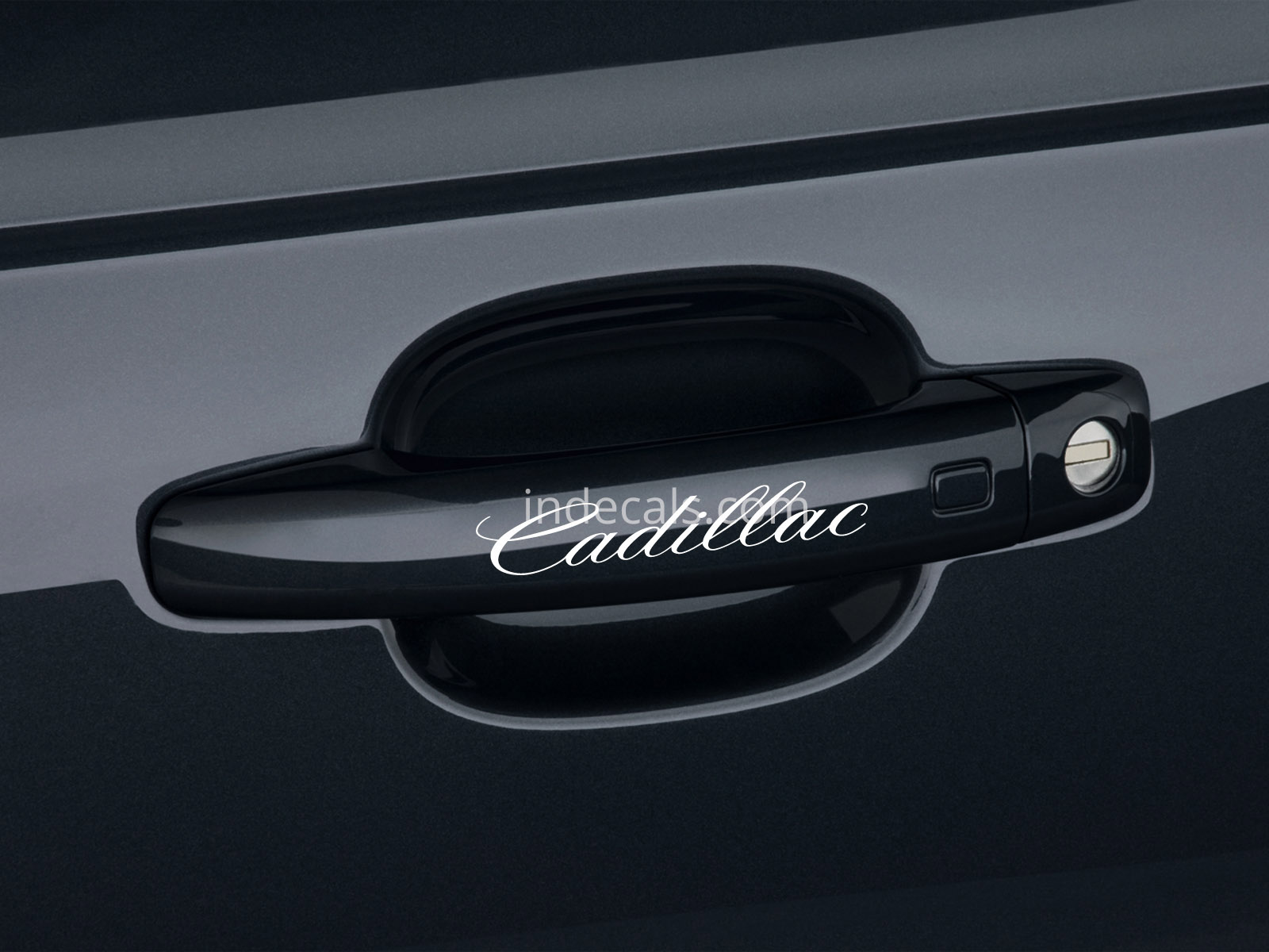 6 x Cadillac Stickers for Door Handles - White